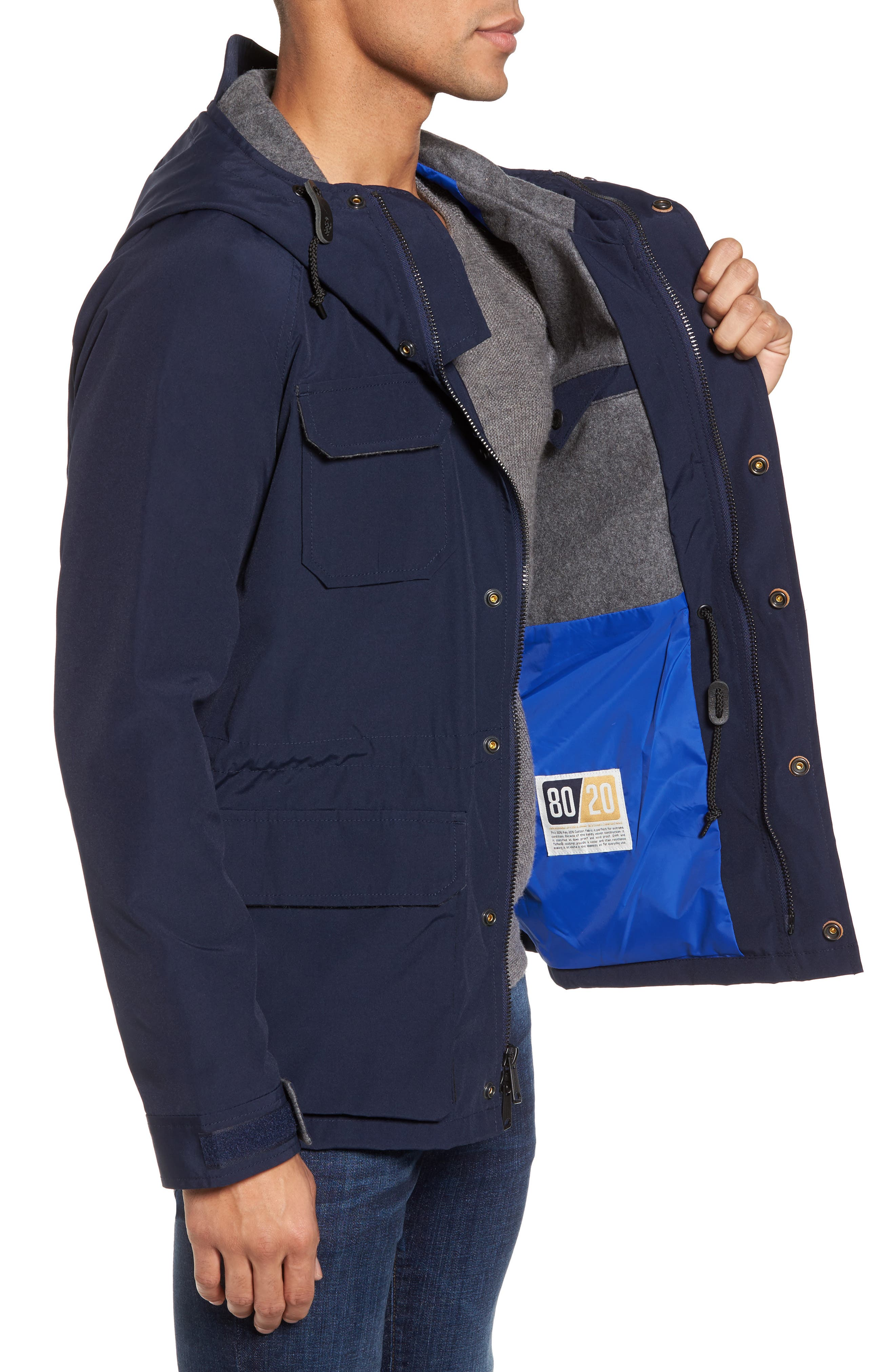 Kasson Parka,                             Alternate thumbnail 3, color,                             Navy