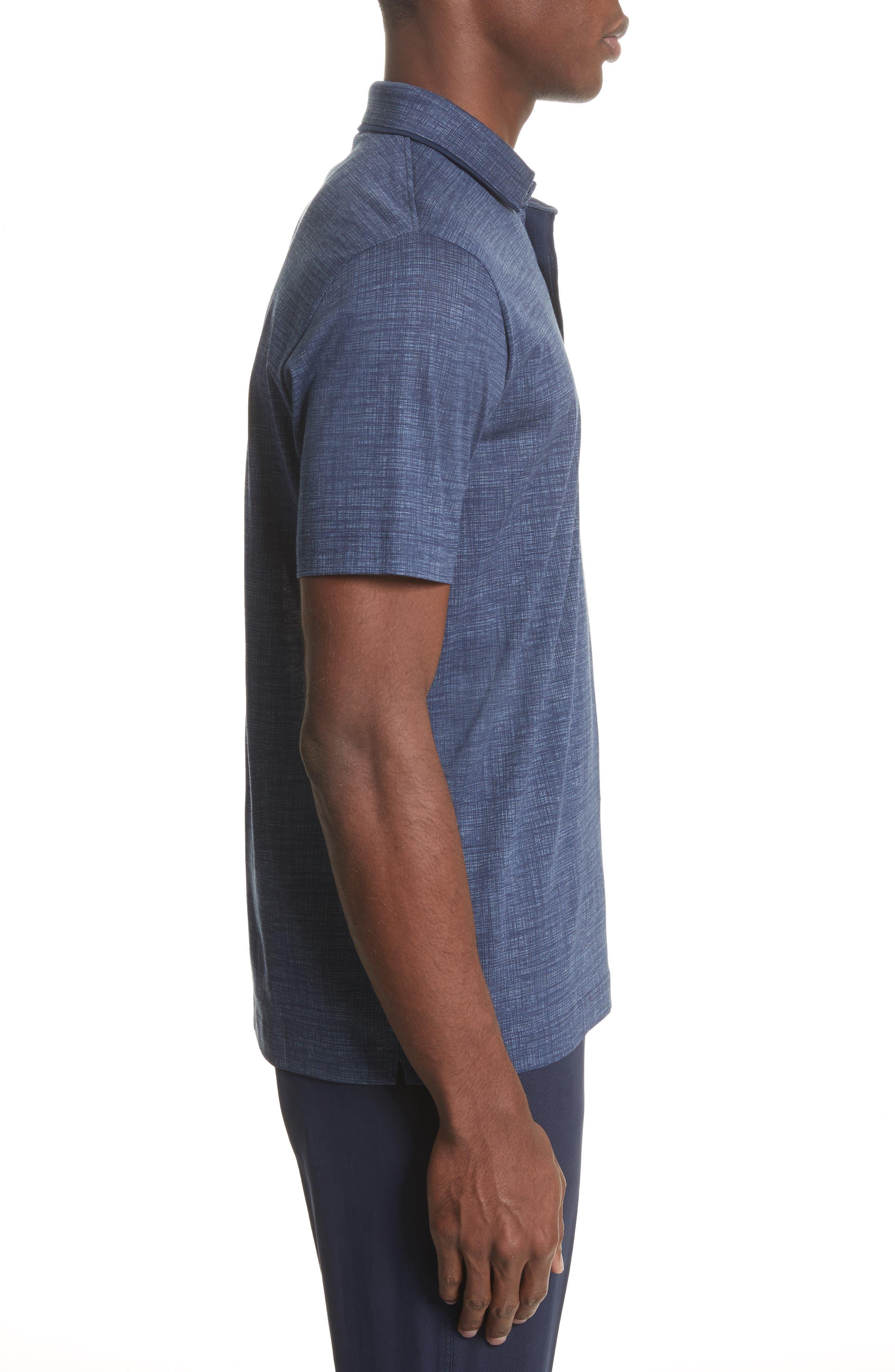 Cotton Polo Shirt,                             Alternate thumbnail 3, color,                             Navy