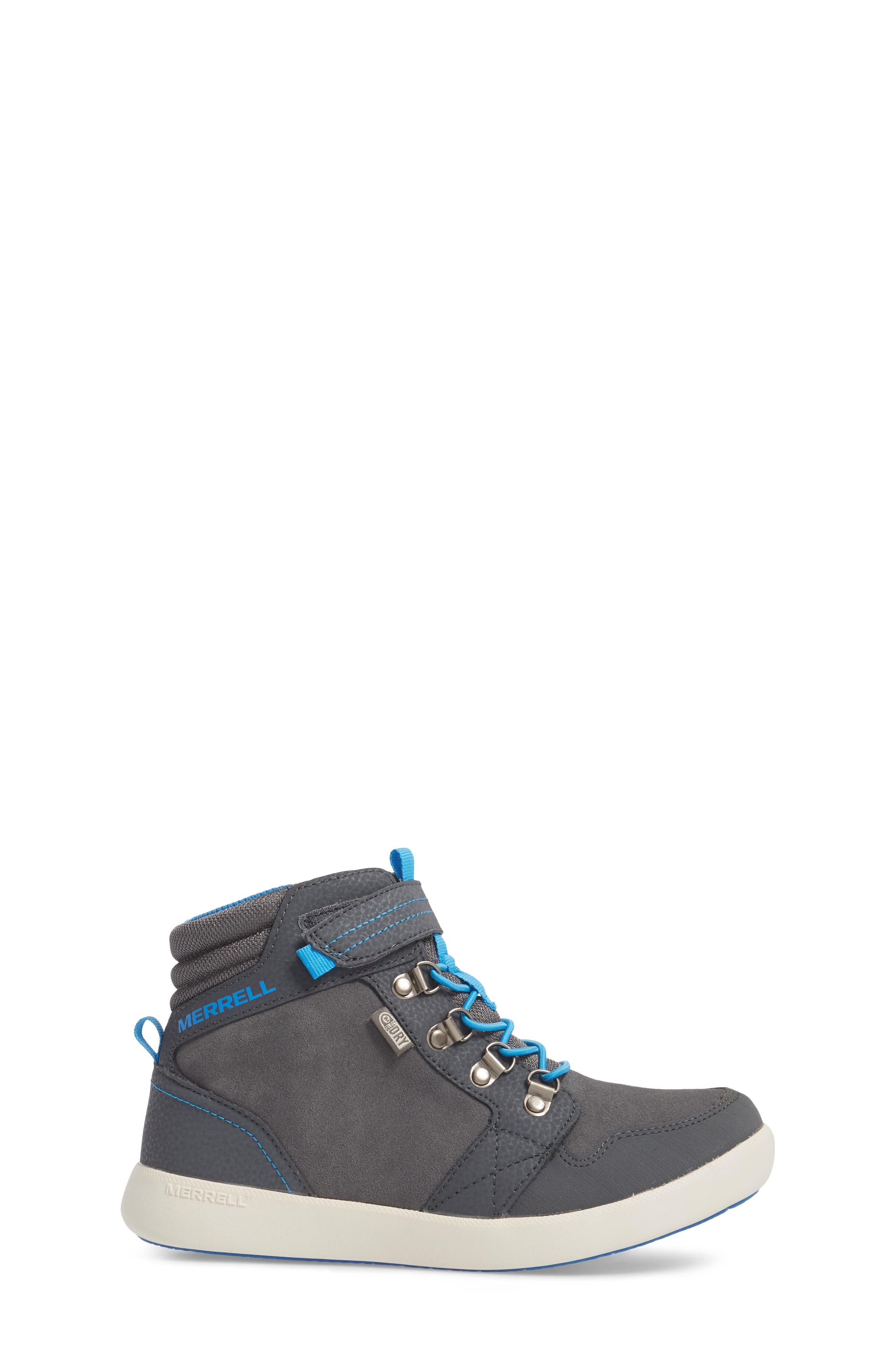 Freewheel Mid Top Waterproof Sneaker Boot,                             Alternate thumbnail 3, color,                             Grey