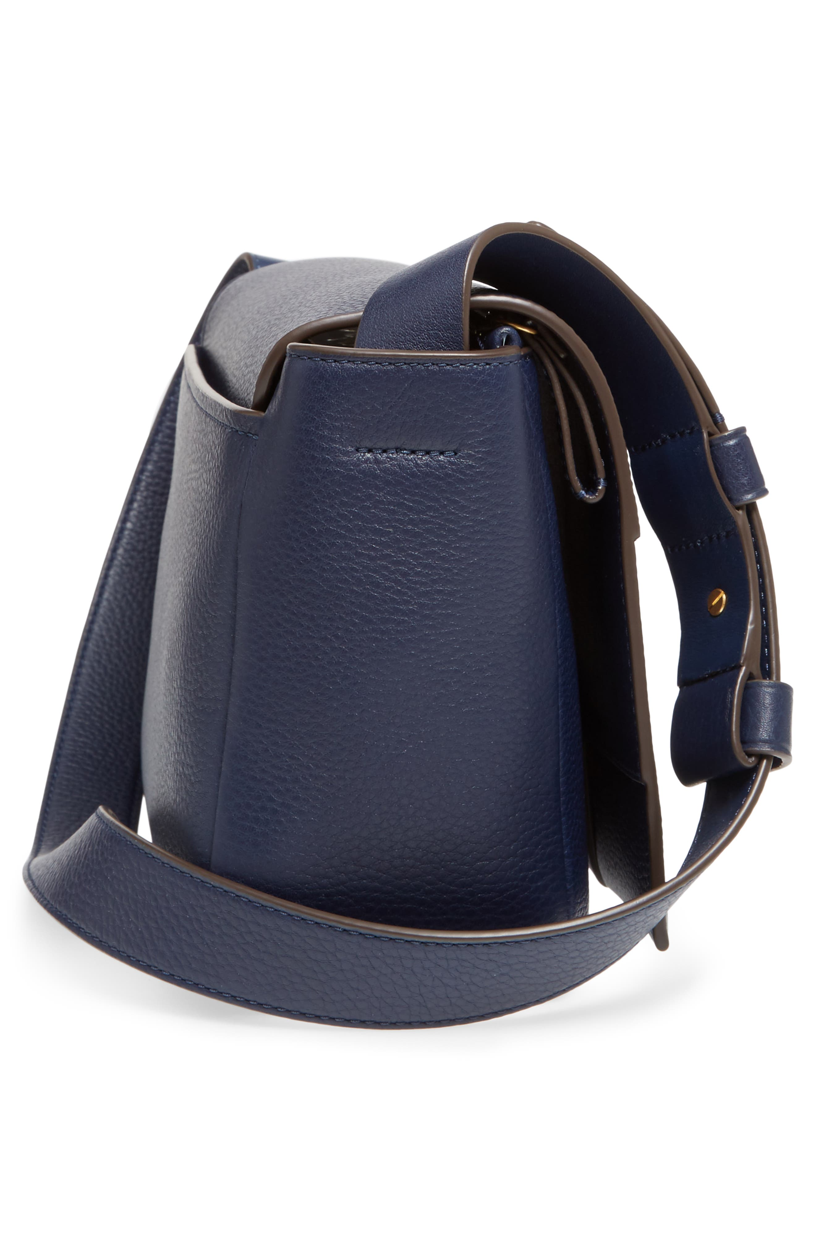 Alternate Image 5  - Tory Burch Block-T Pebbled Leather Shoulder Bag
