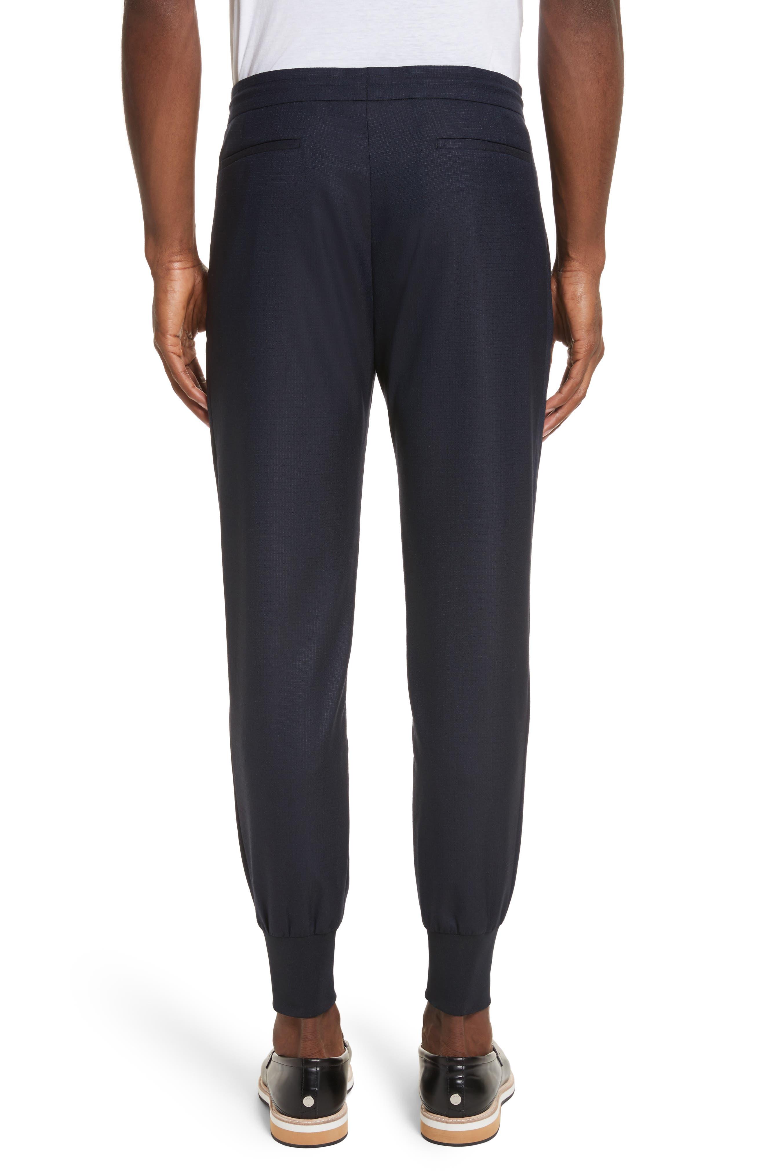 Wool & Silk Jogger Pants,                             Alternate thumbnail 2, color,                             48 Blue