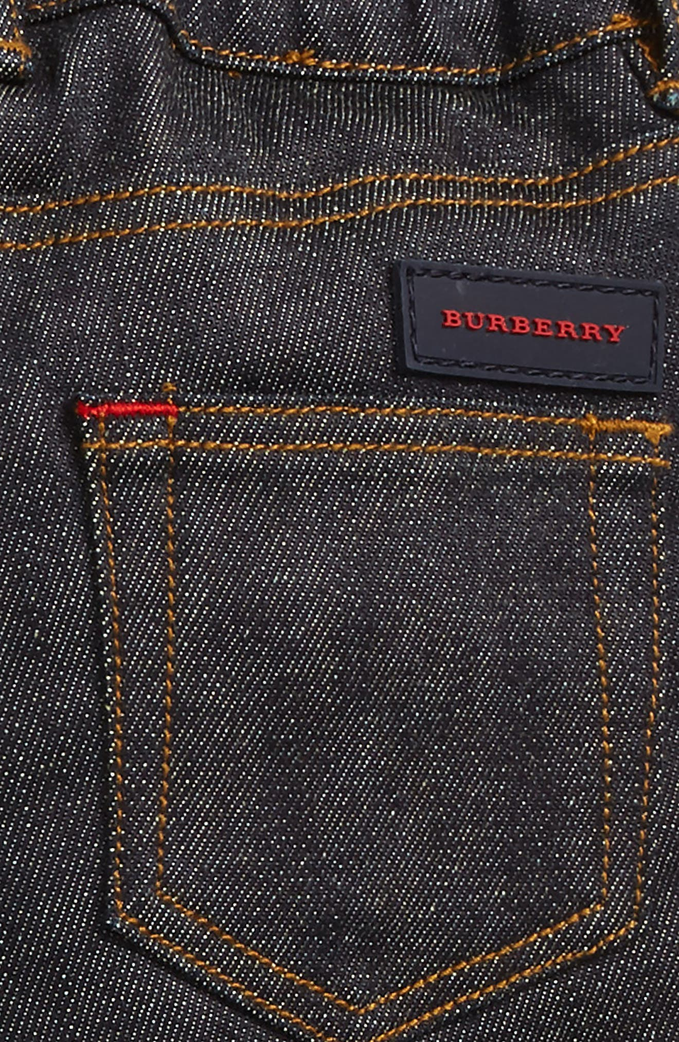 Alternate Image 3  - Burberry Check Cuff Relaxed Jeans (Baby Boys)