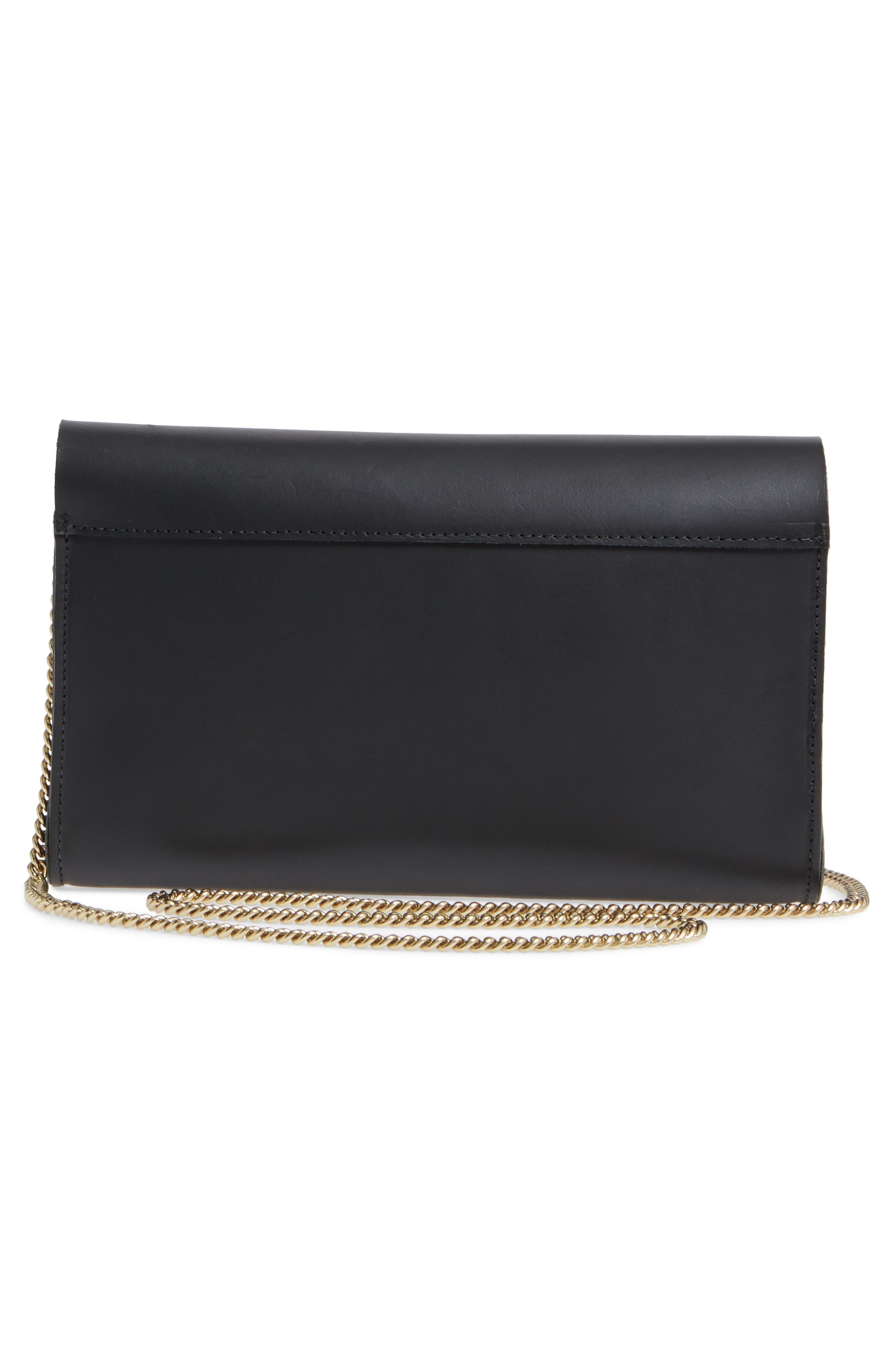 Colette Maison Leather Shoulder Bag,                             Alternate thumbnail 3, color,                             Black Veg