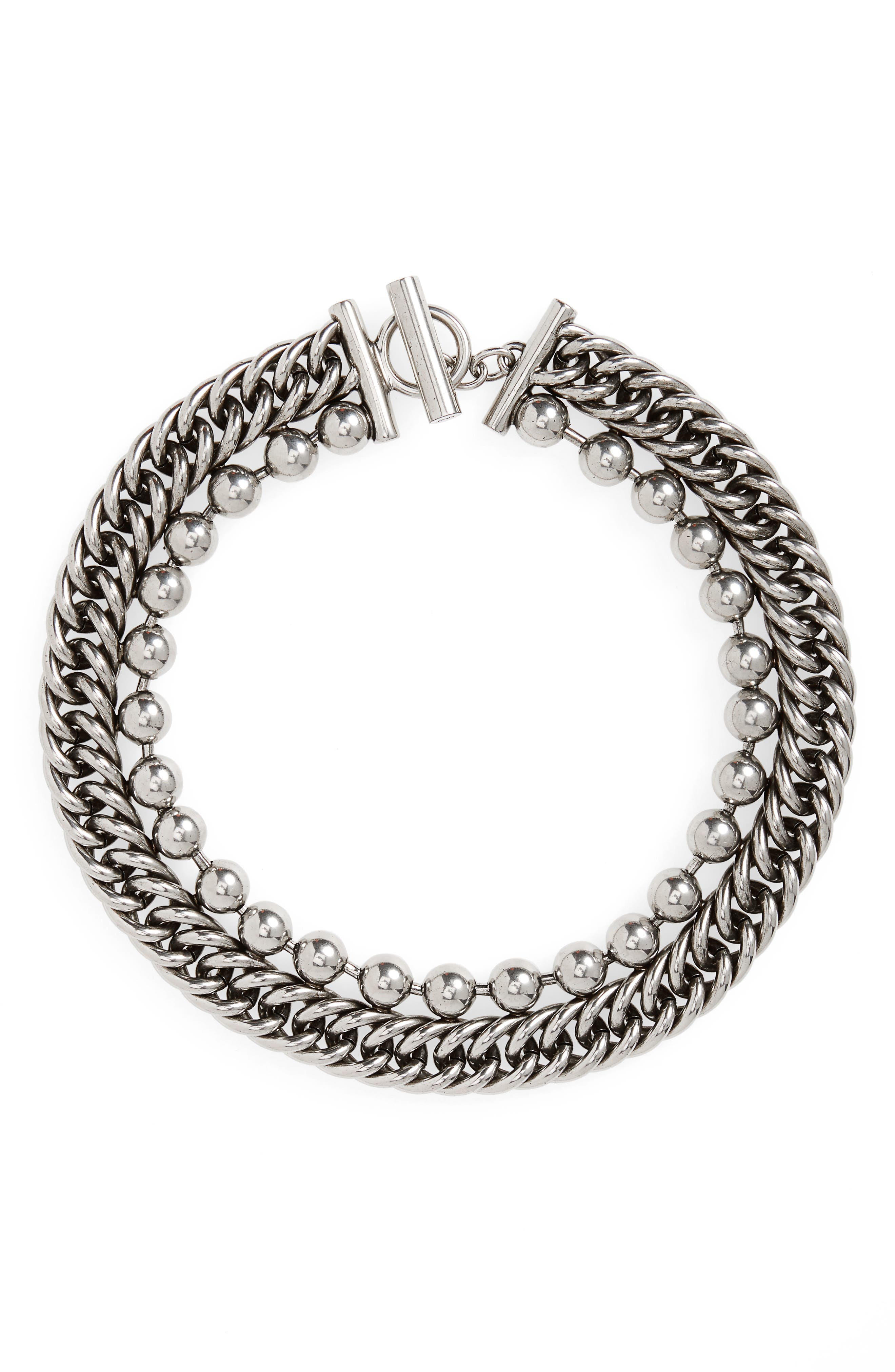 Alexander Wang Ball & Chain Stacked Necklace