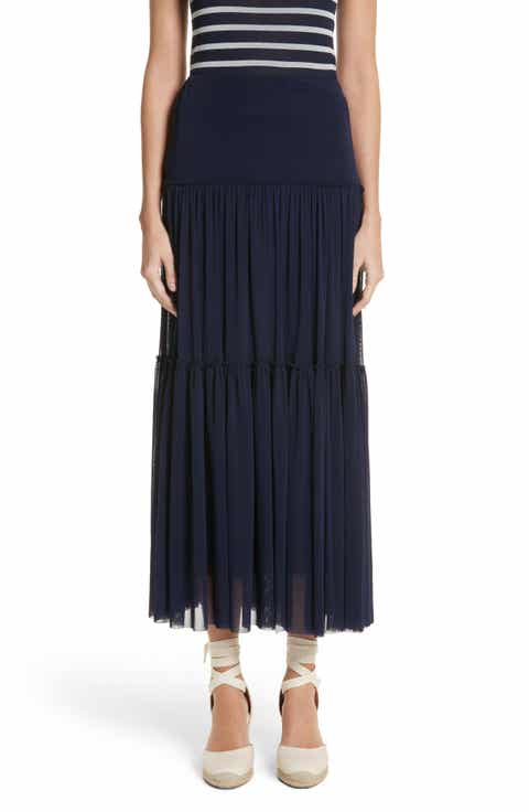 Fuzzi Ruffle Tiered Maxi Skirt
