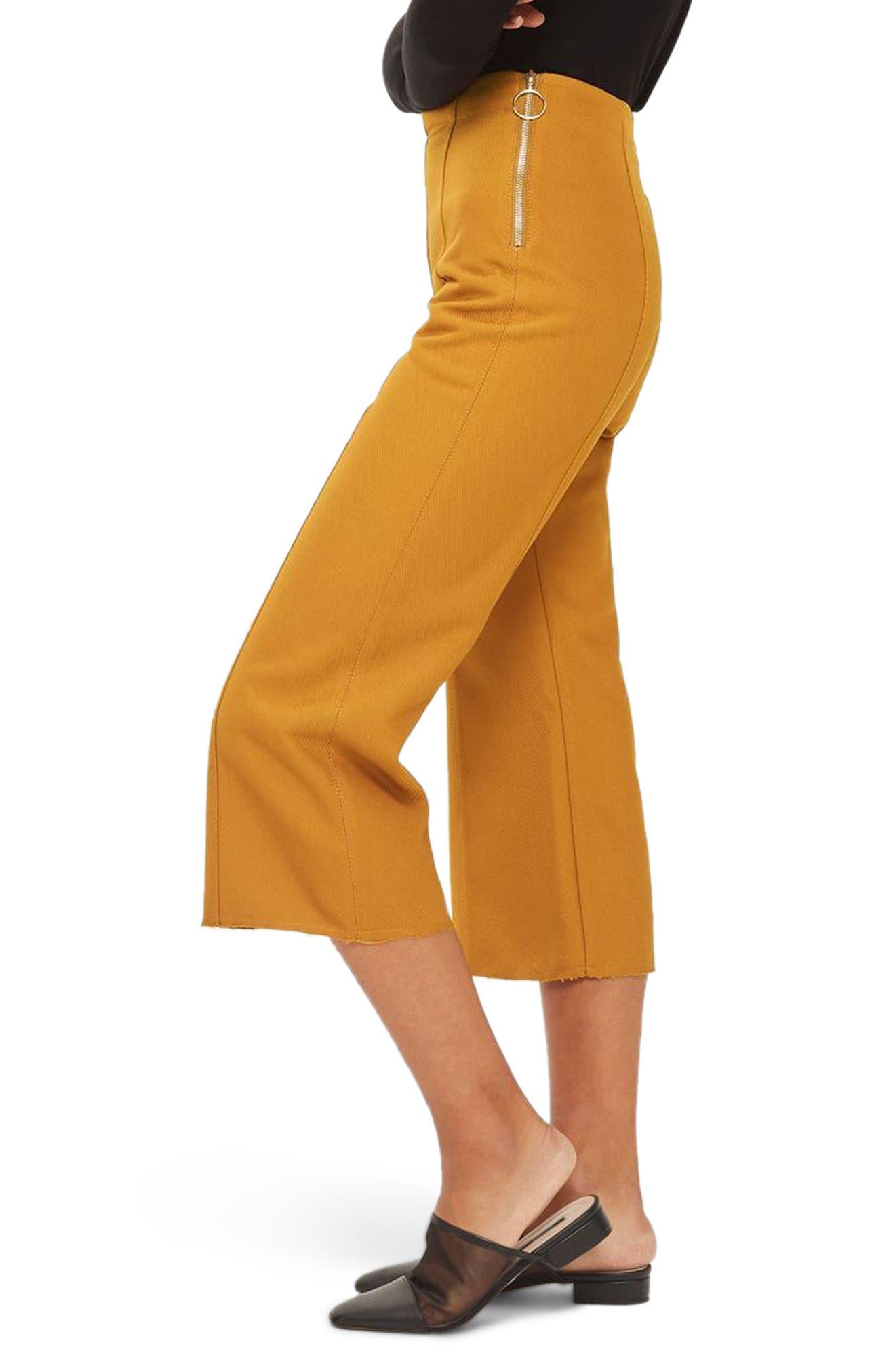 Alternate Image 4  - Topshop Bonded Kick Flare Trousers