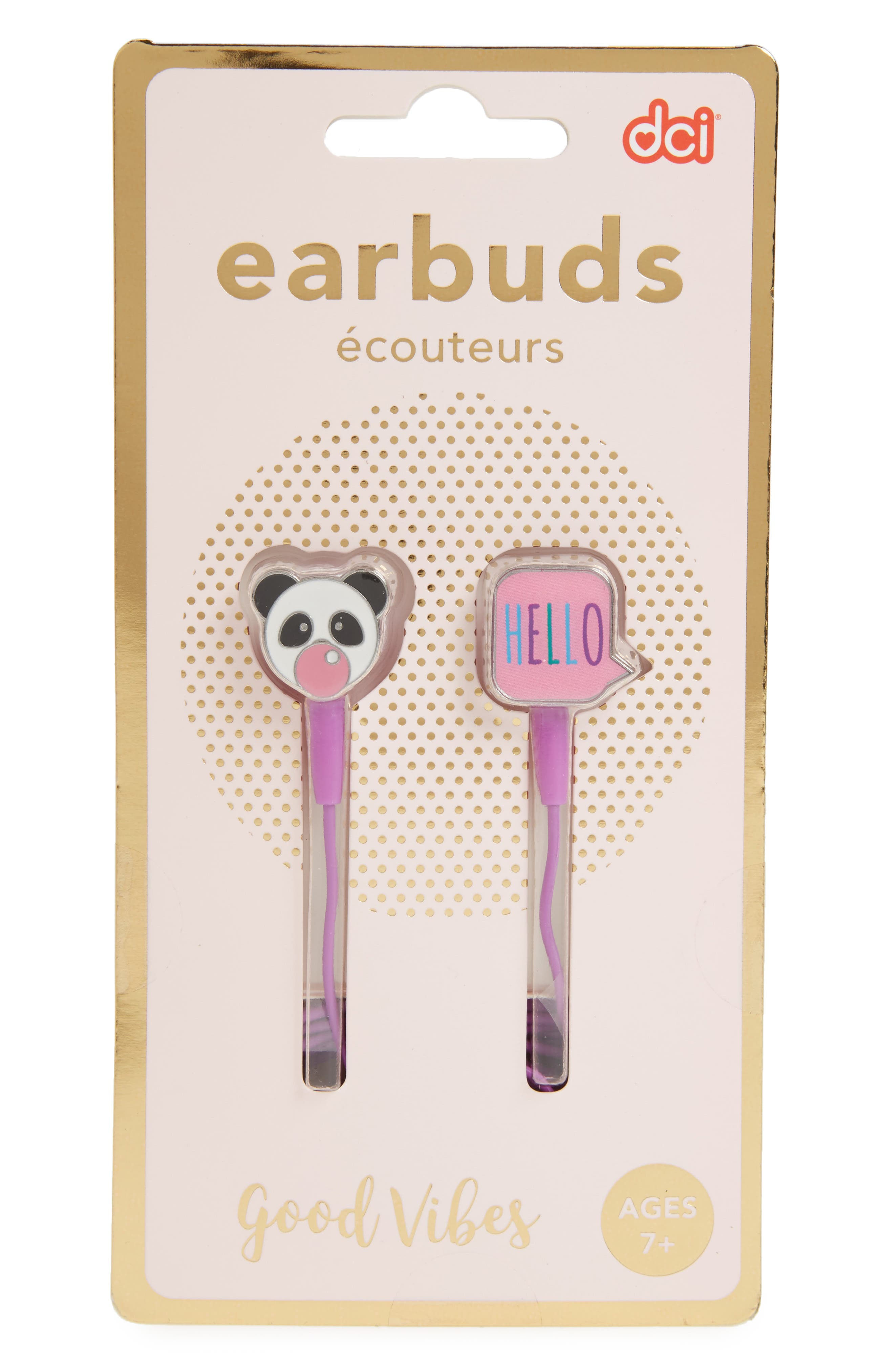 Good Vibes Earbuds,                             Main thumbnail 1, color,                             Pink Multi