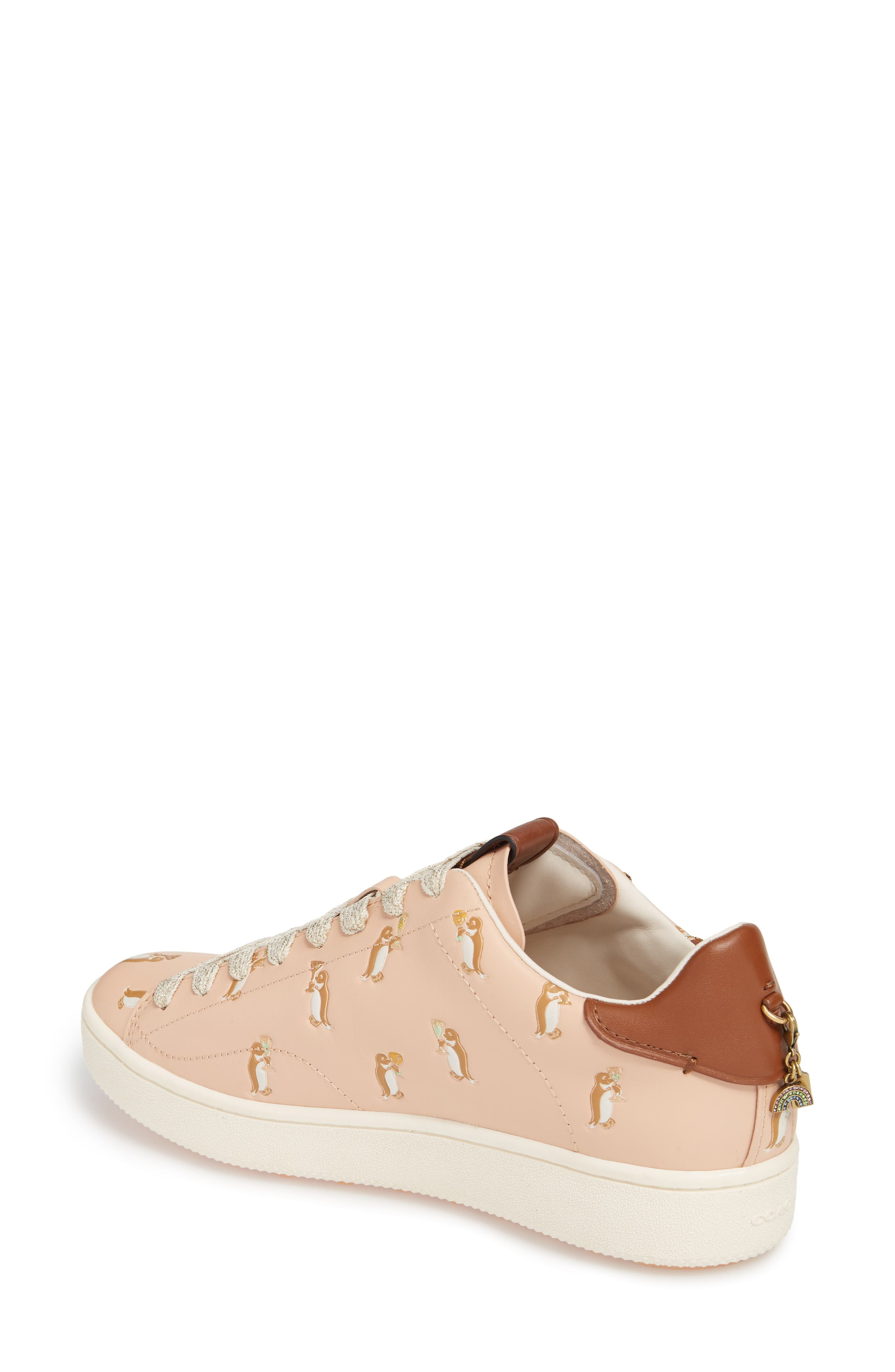 Patch Sneaker,                             Alternate thumbnail 2, color,                             Light Pink Leather