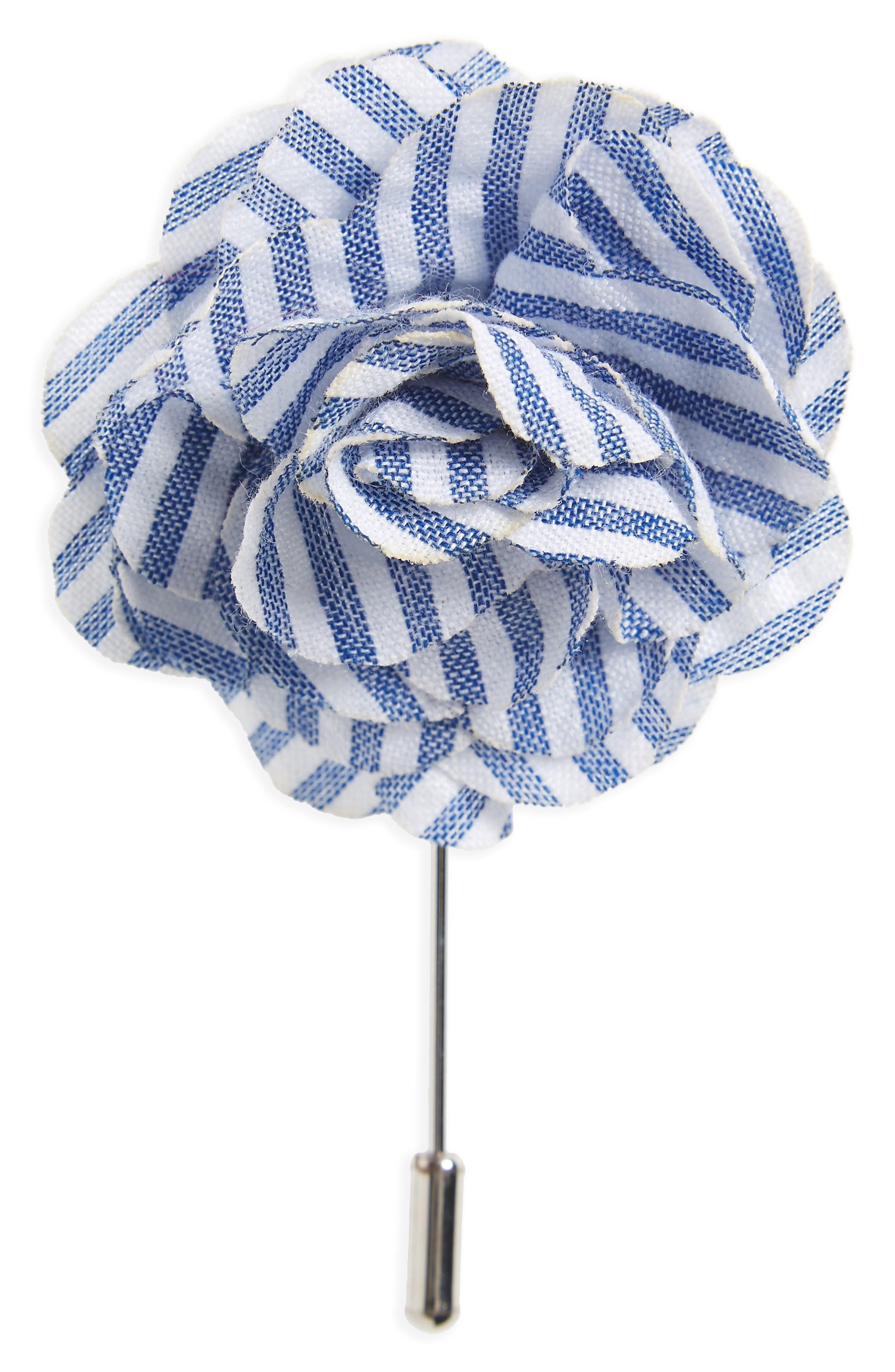 Main Image - The Tie Bar Seersucker Lapel Flower