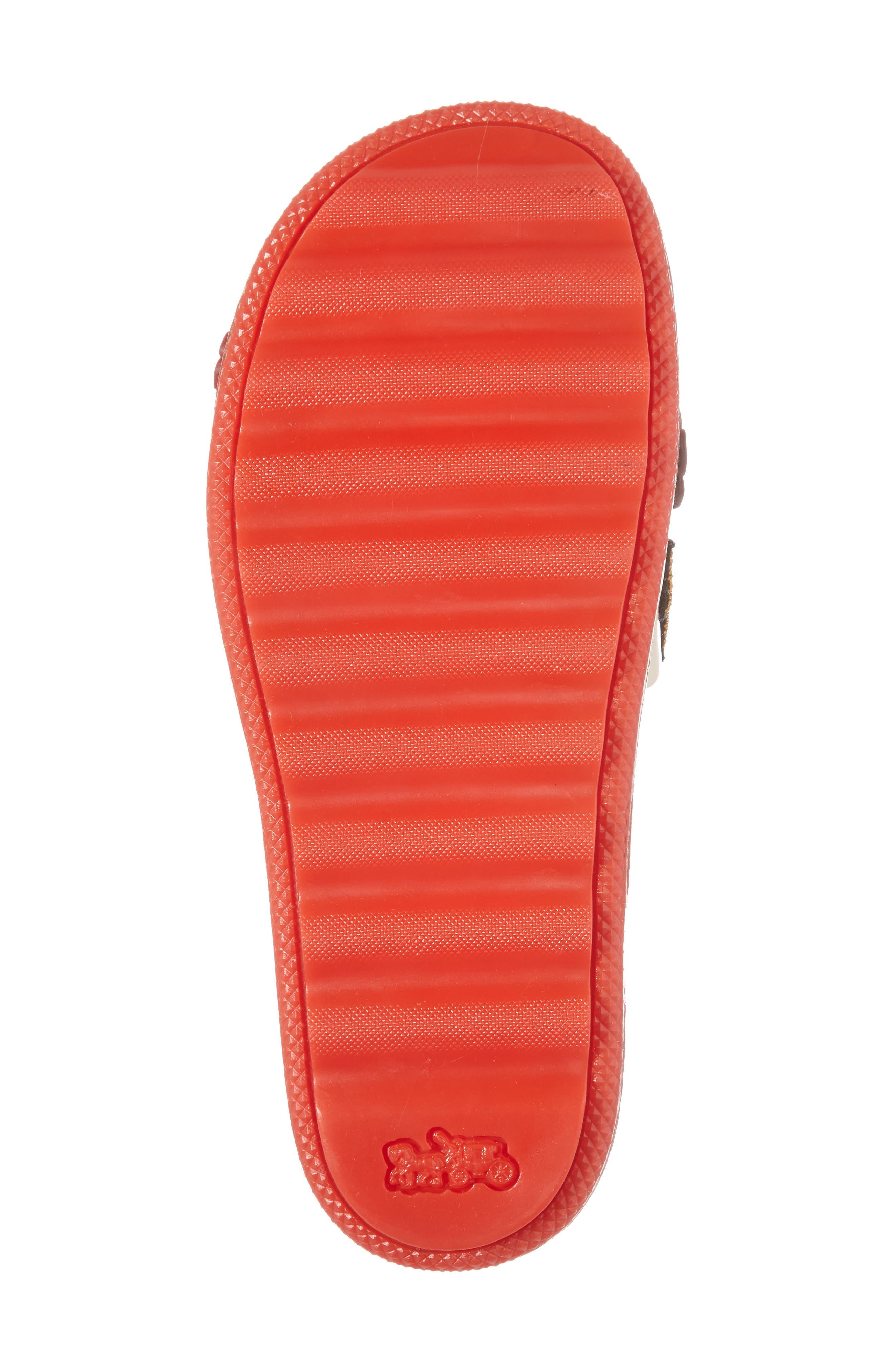Patch Sport Slide Sandal,                             Alternate thumbnail 6, color,                             Ivory/ Red Leather