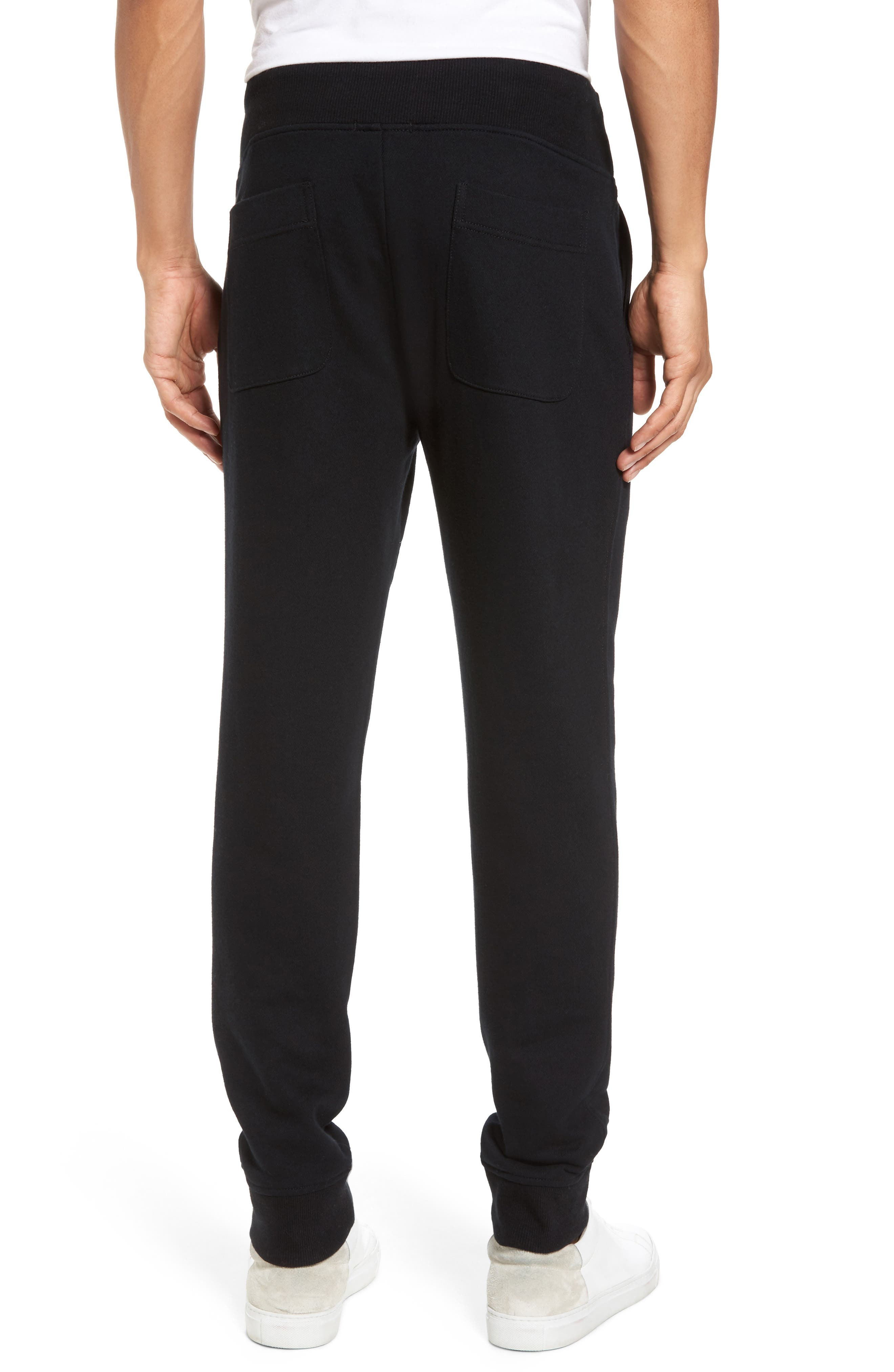 French Terry Regular Fit Sweatpants,                             Alternate thumbnail 2, color,                             Black