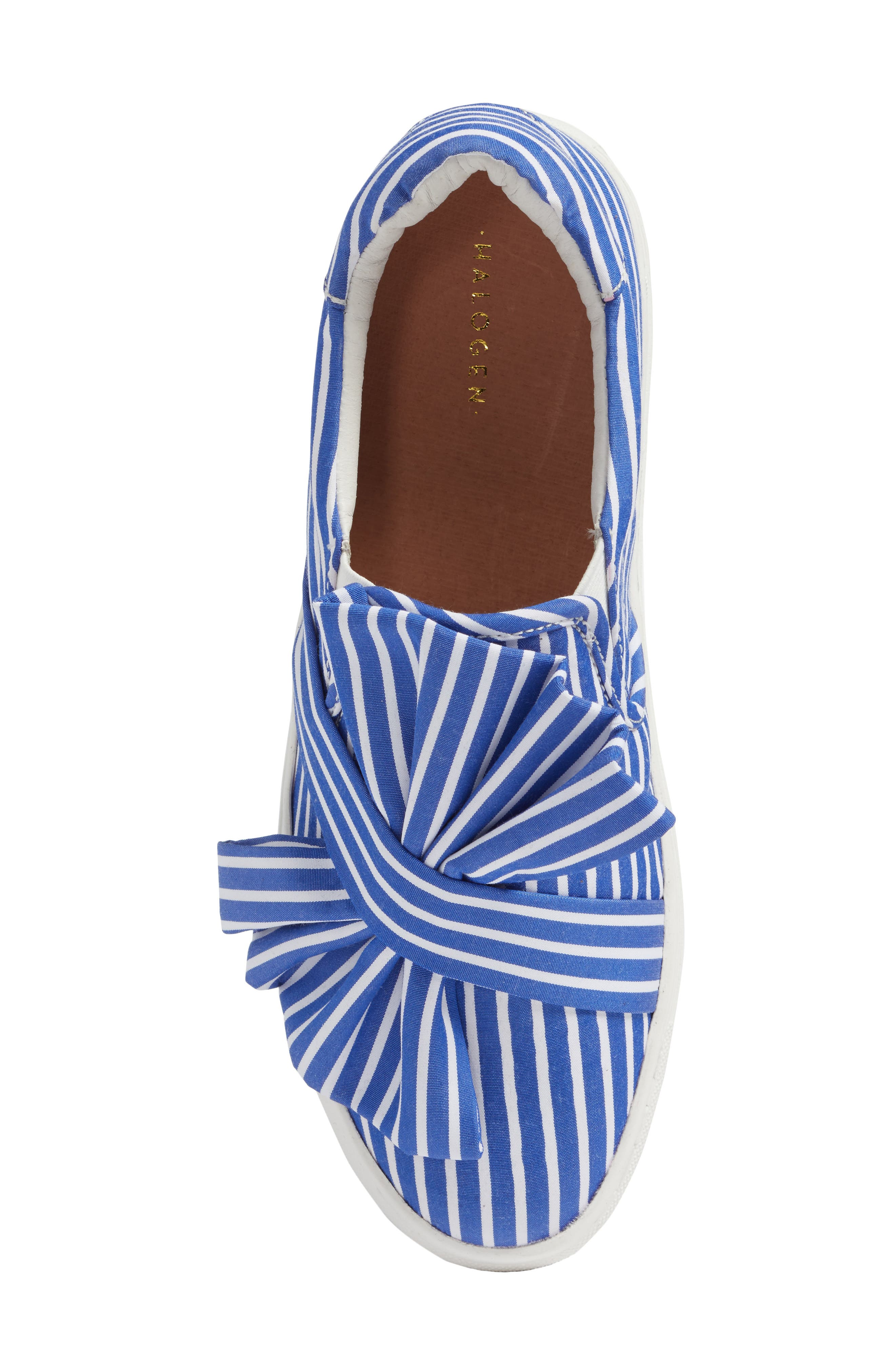 Mika Slip-On Sneaker,                             Alternate thumbnail 7, color,                             Blue Shirting Fabric
