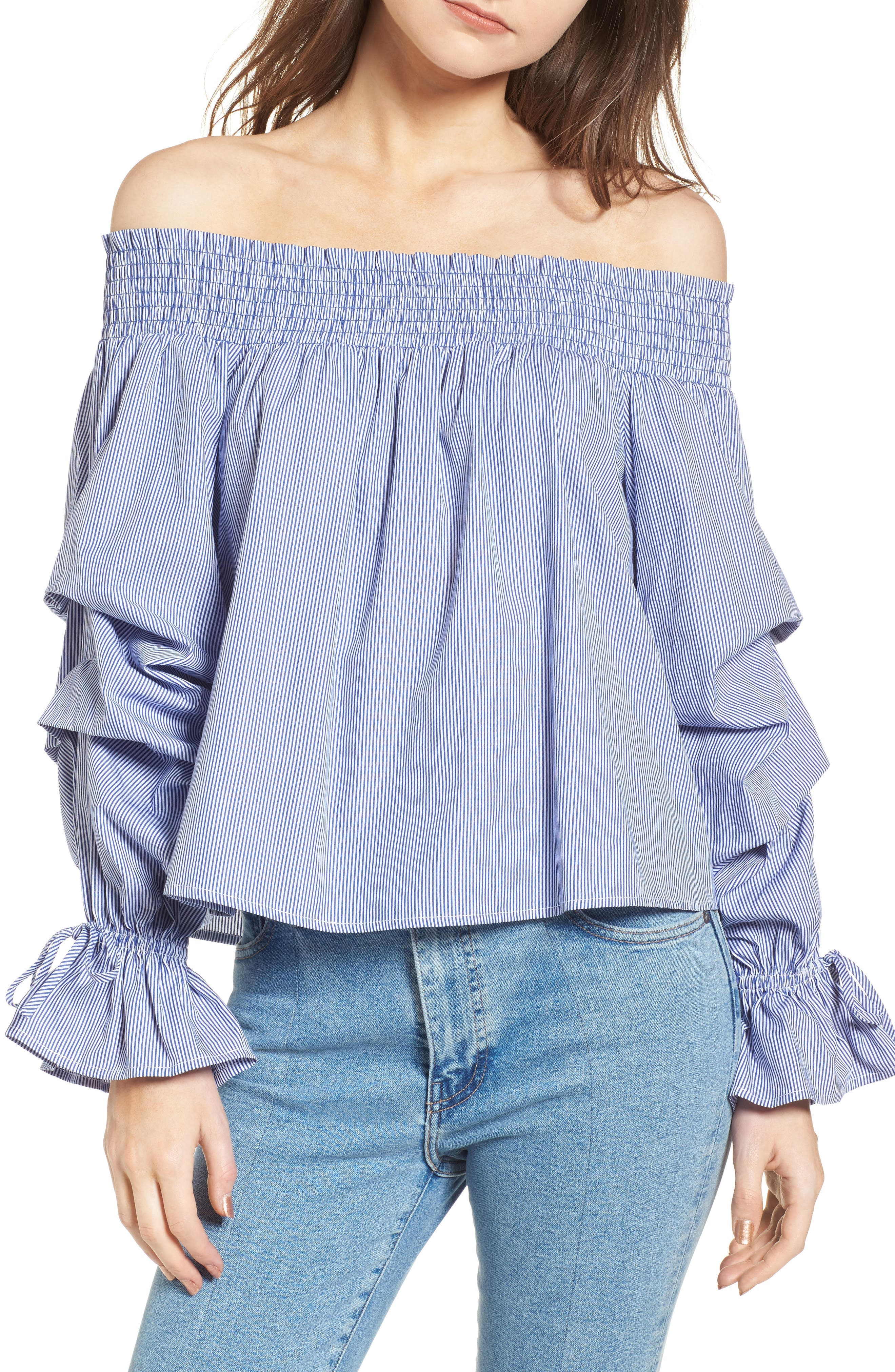 Alternate Image 1 Selected - Rebecca Minkoff Nicola Off the Shoulder Top