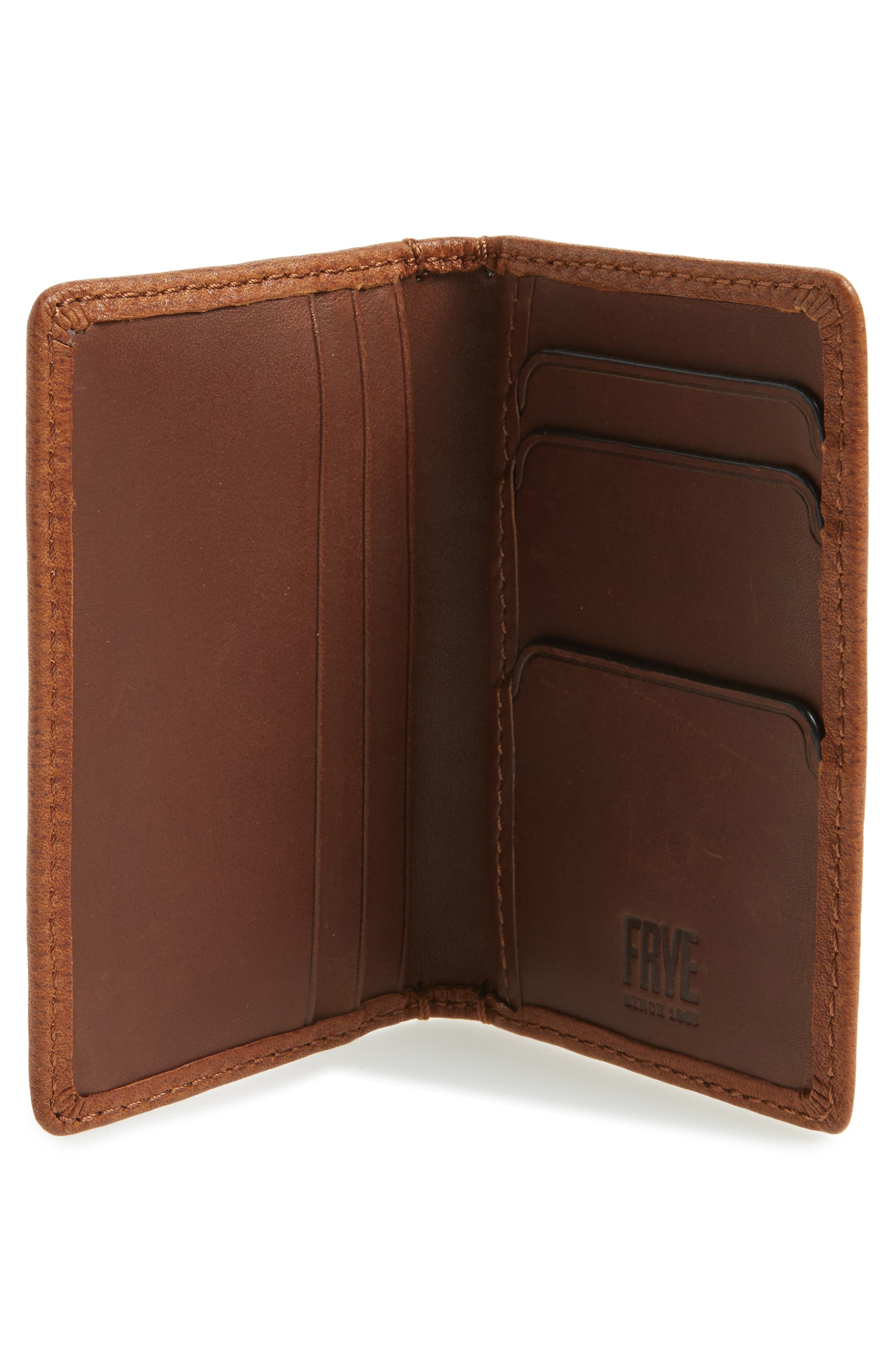 Oliver Leather Wallet,                             Alternate thumbnail 2, color,                             Cognac