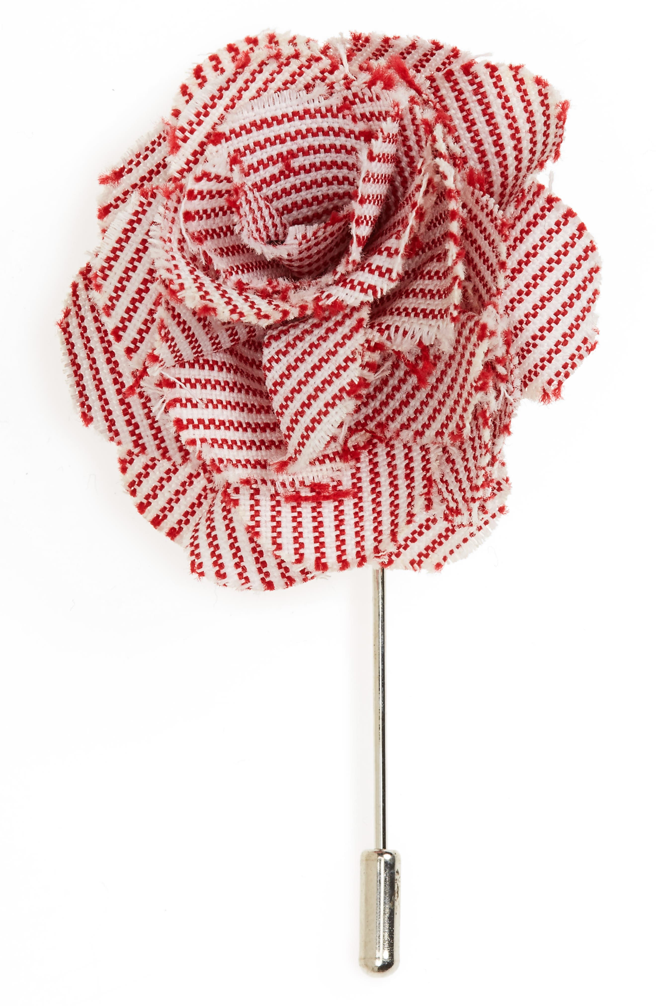 The Tie Bar Little Stripe Cotton Lapel Flower