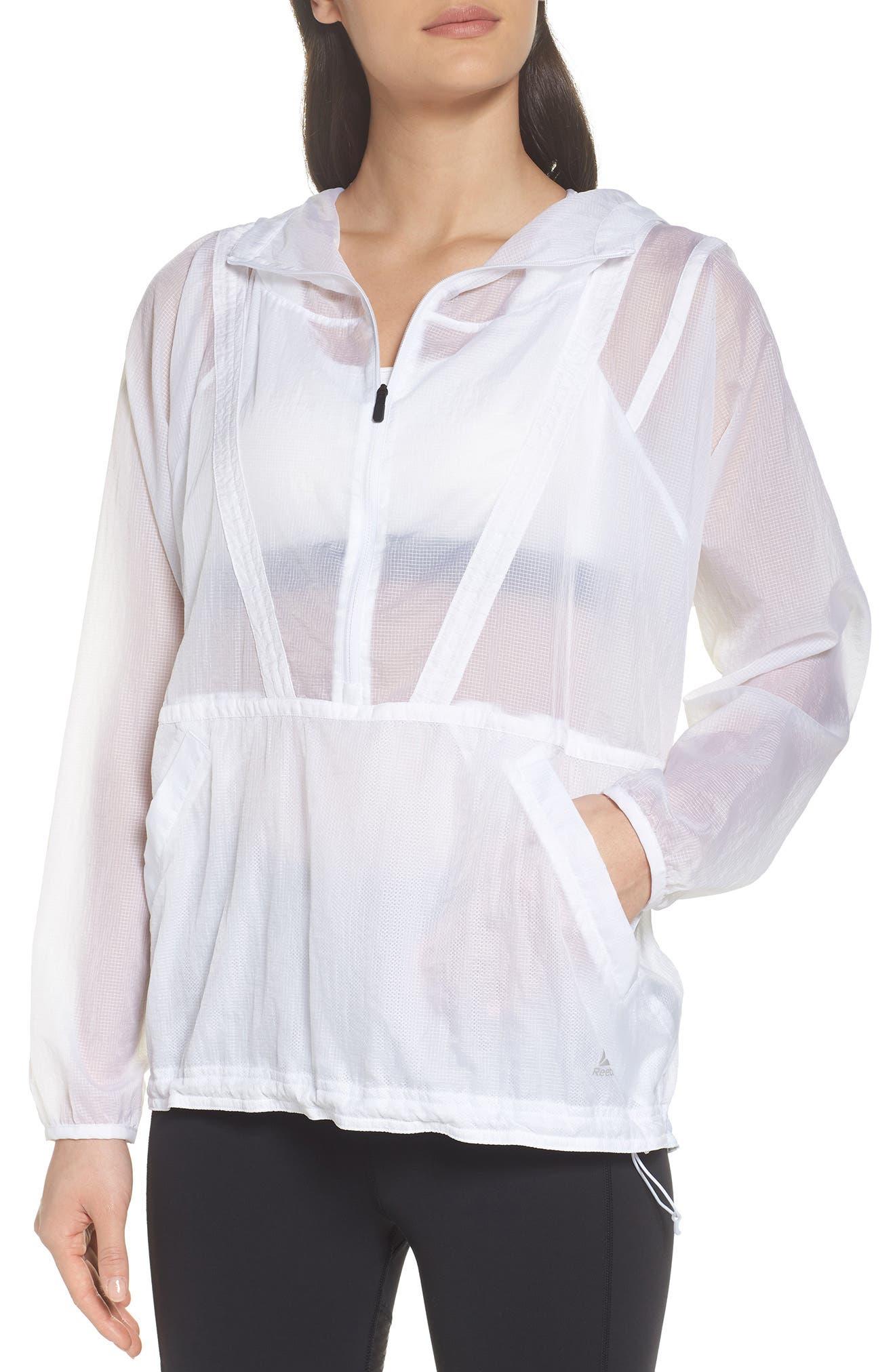 Packable Parachute Anorak,                         Main,                         color, White