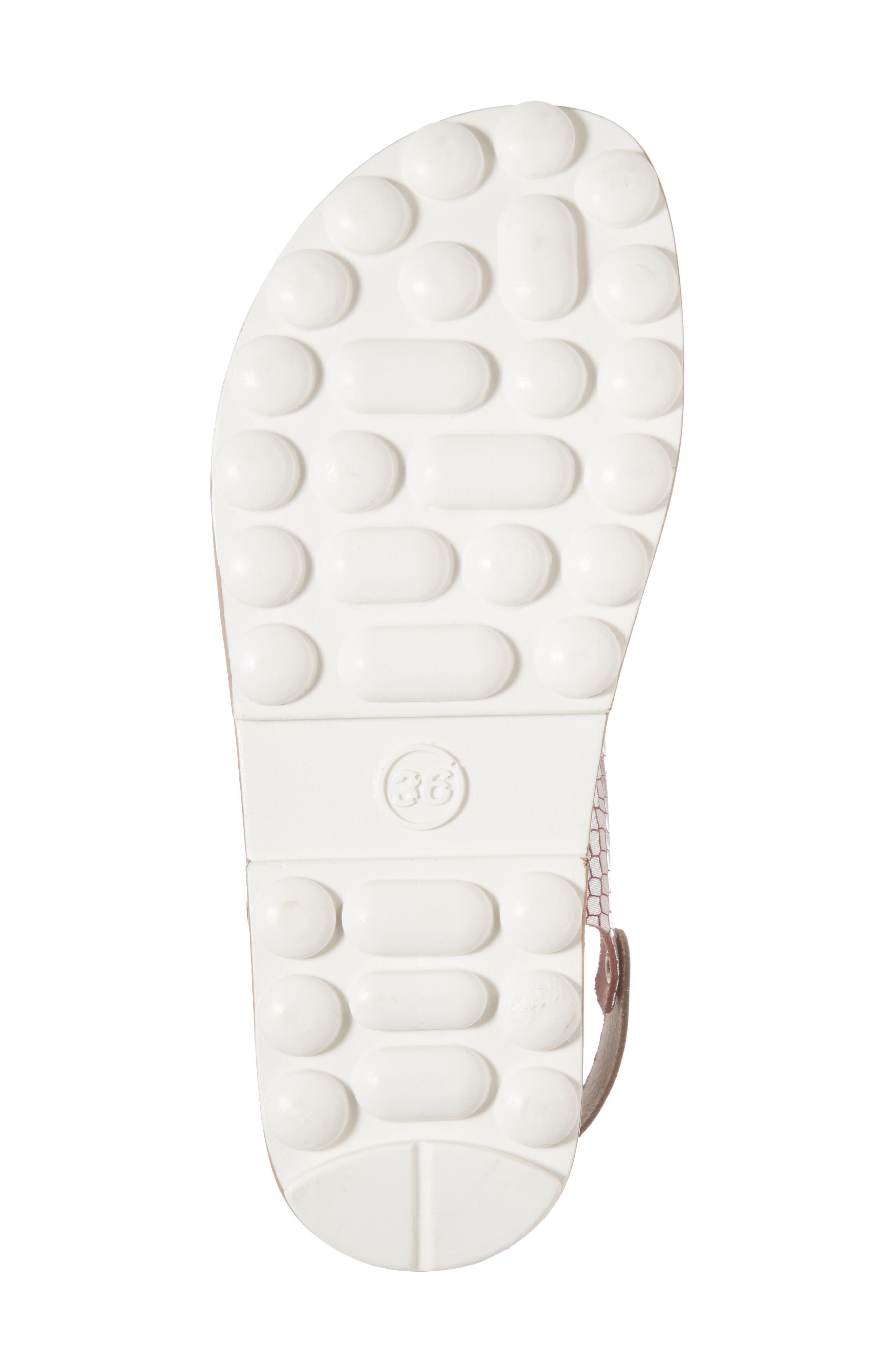 Izabella Fantasy Platform Sandal,                             Alternate thumbnail 6, color,                             Coffee Snake Leather