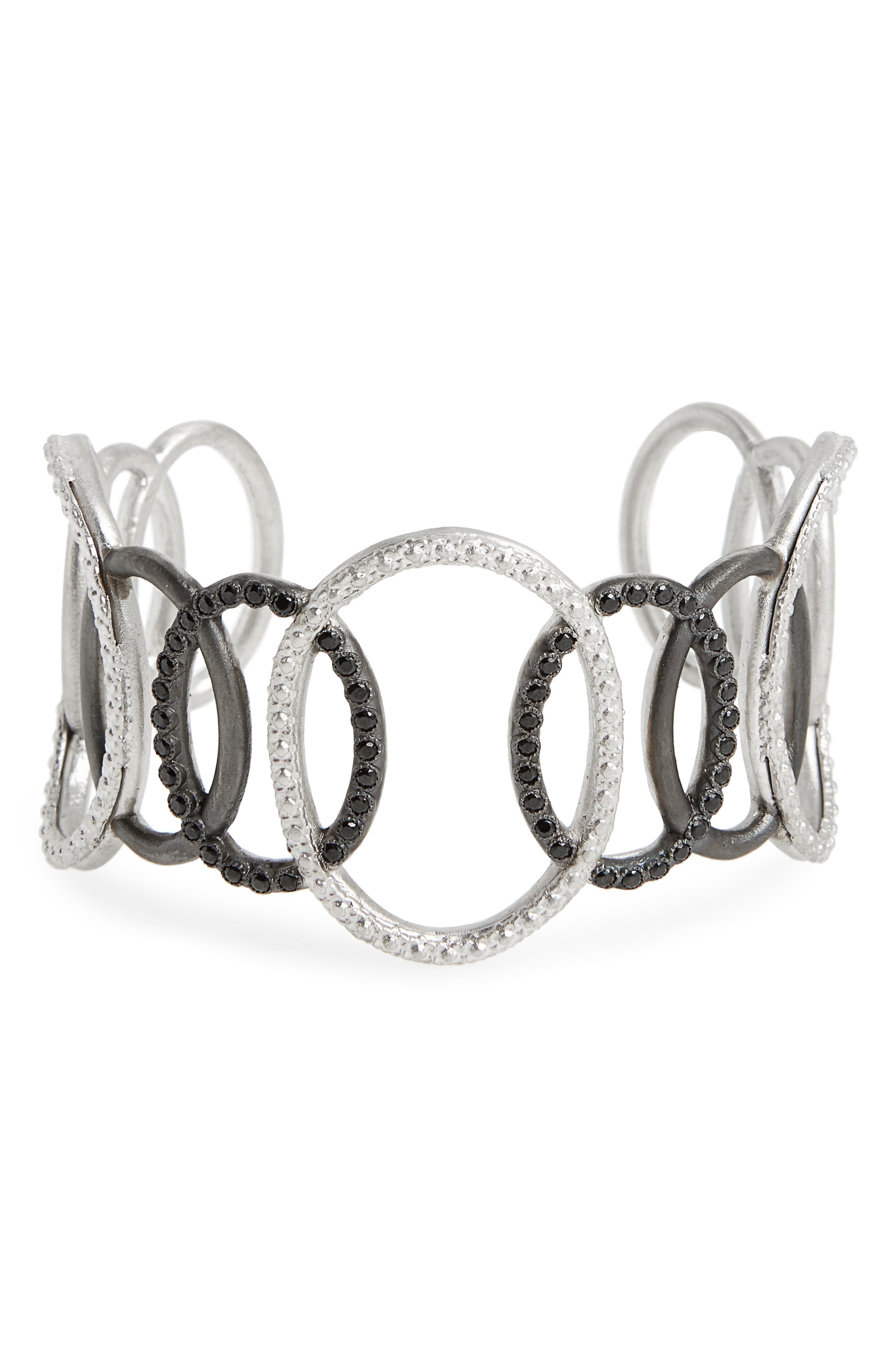 New World Large Open Circle Link Cuff,                         Main,                         color, Silver