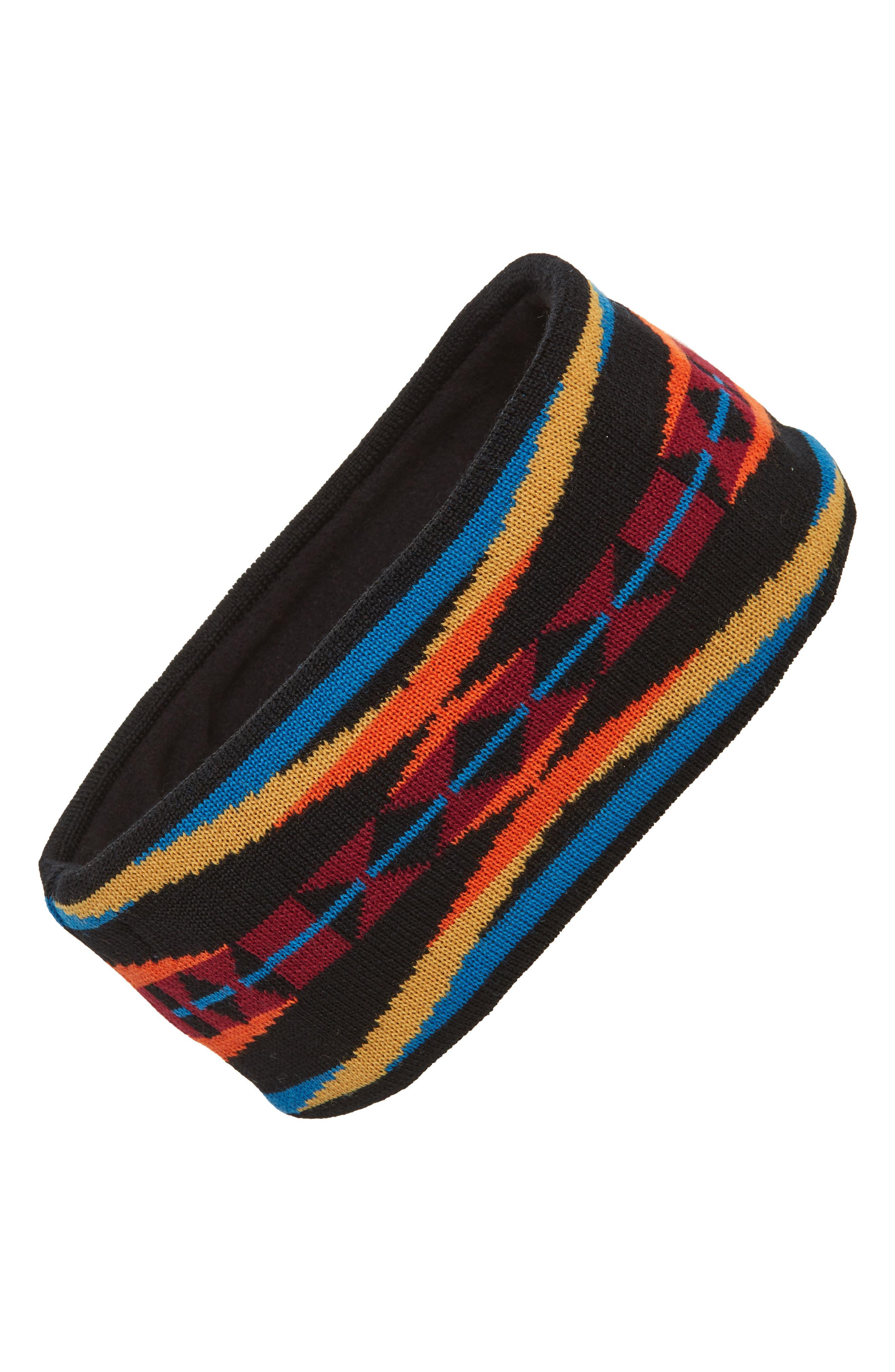 Fleece Lined Headband,                         Main,                         color, La Paz Black