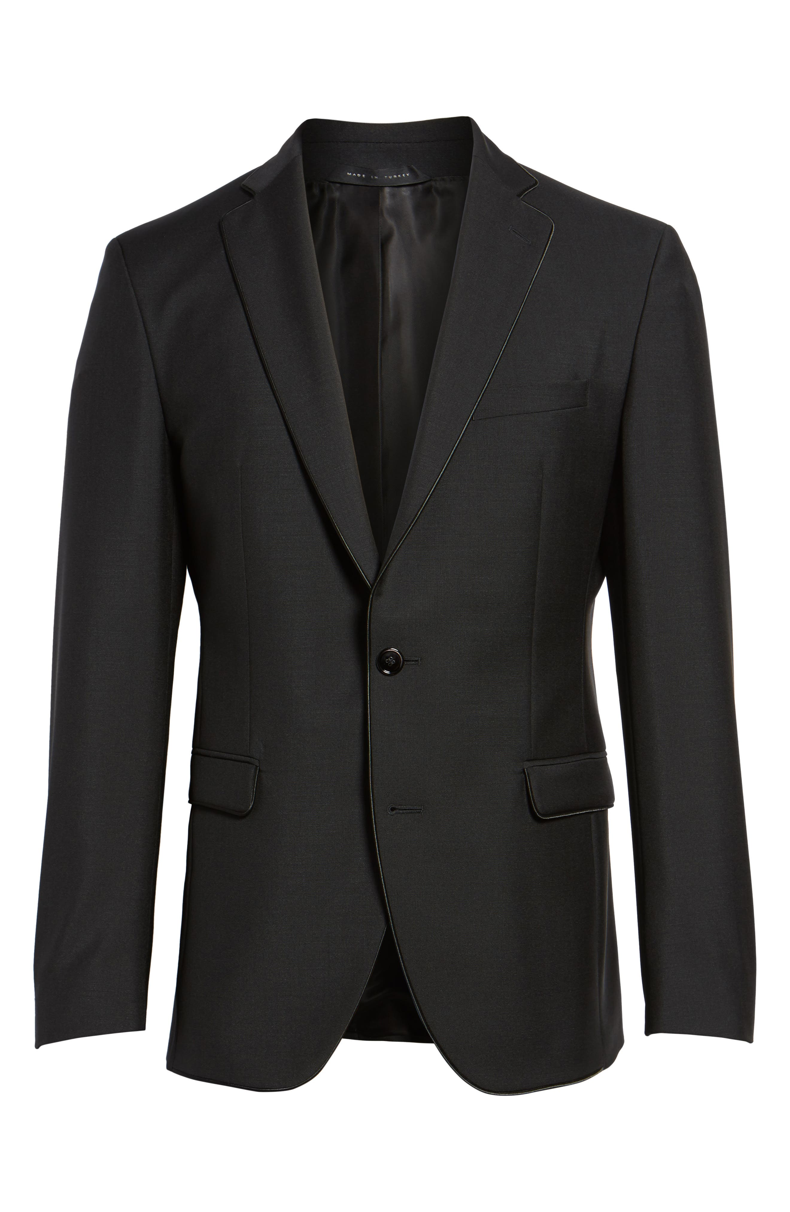Alternate Image 6  - BOSS Reman Extra Trim Fit Wool & Mohair Blazer