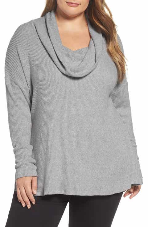 Lucky Brand Cowl Neck Pullover (Plus Size)