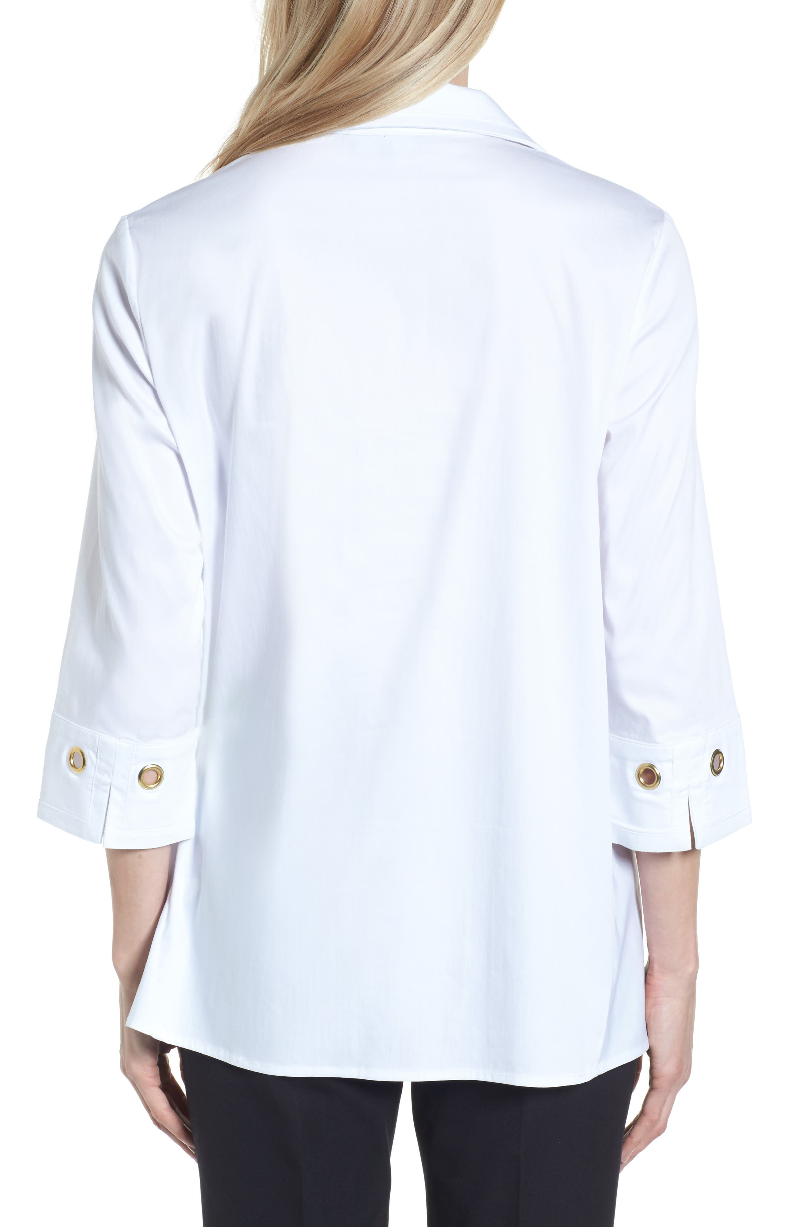 Alternate Image 2  - Ming Wang Grommet Sleeve Shirt