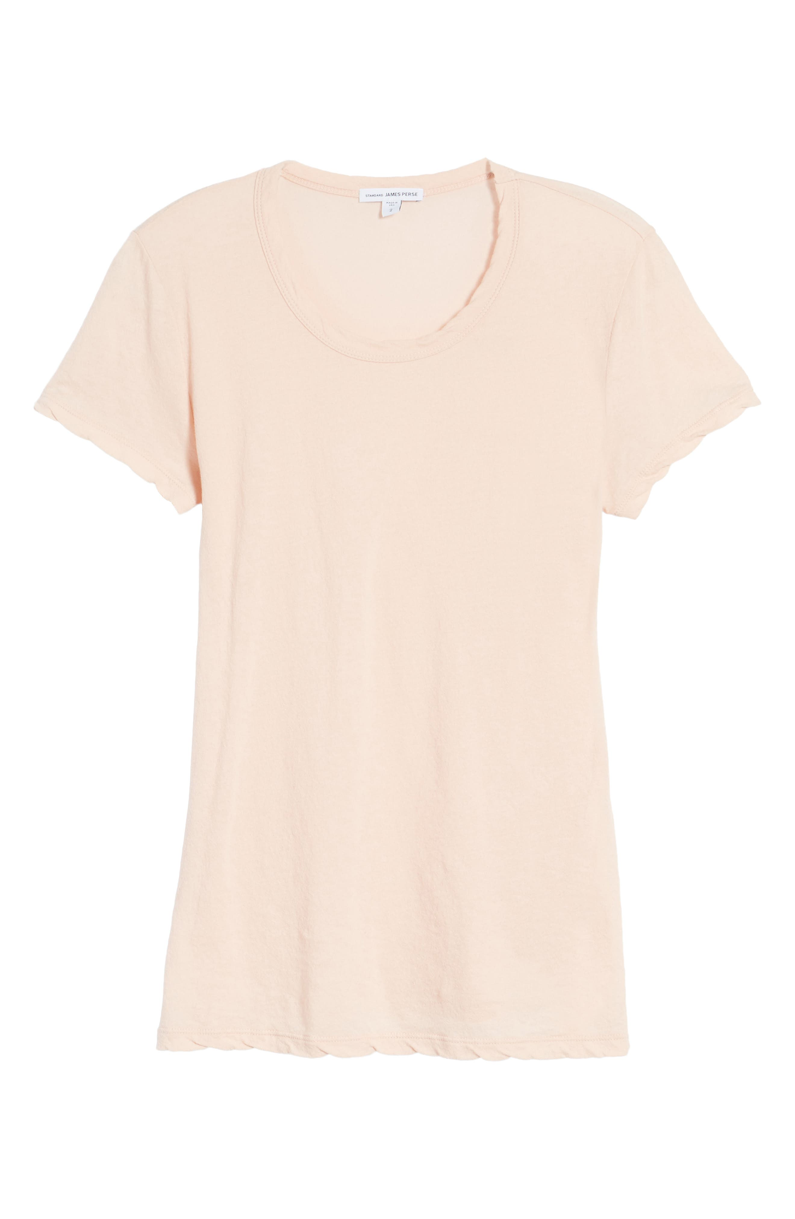 Crepe Jersey Tee,                             Alternate thumbnail 6, color,                             Luster