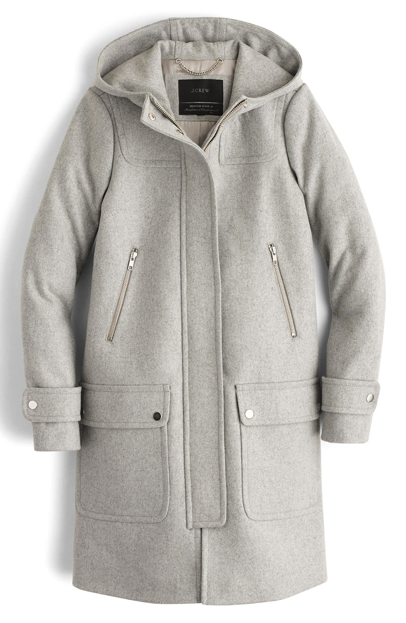 Main Image - J.Crew Wool Melton Duffle Coat