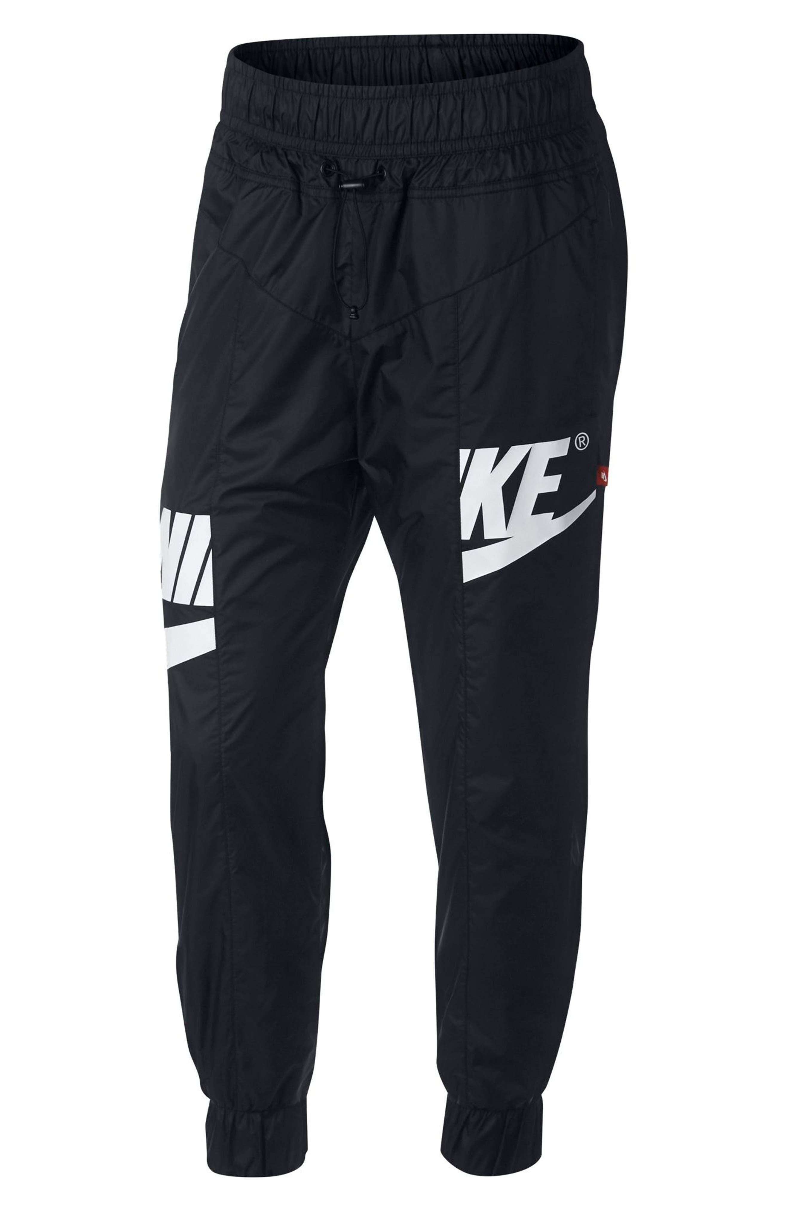 Sportswear Windrunner Women's Pants,                             Main thumbnail 1, color,                             Black/ Black/ Obsidian/ White