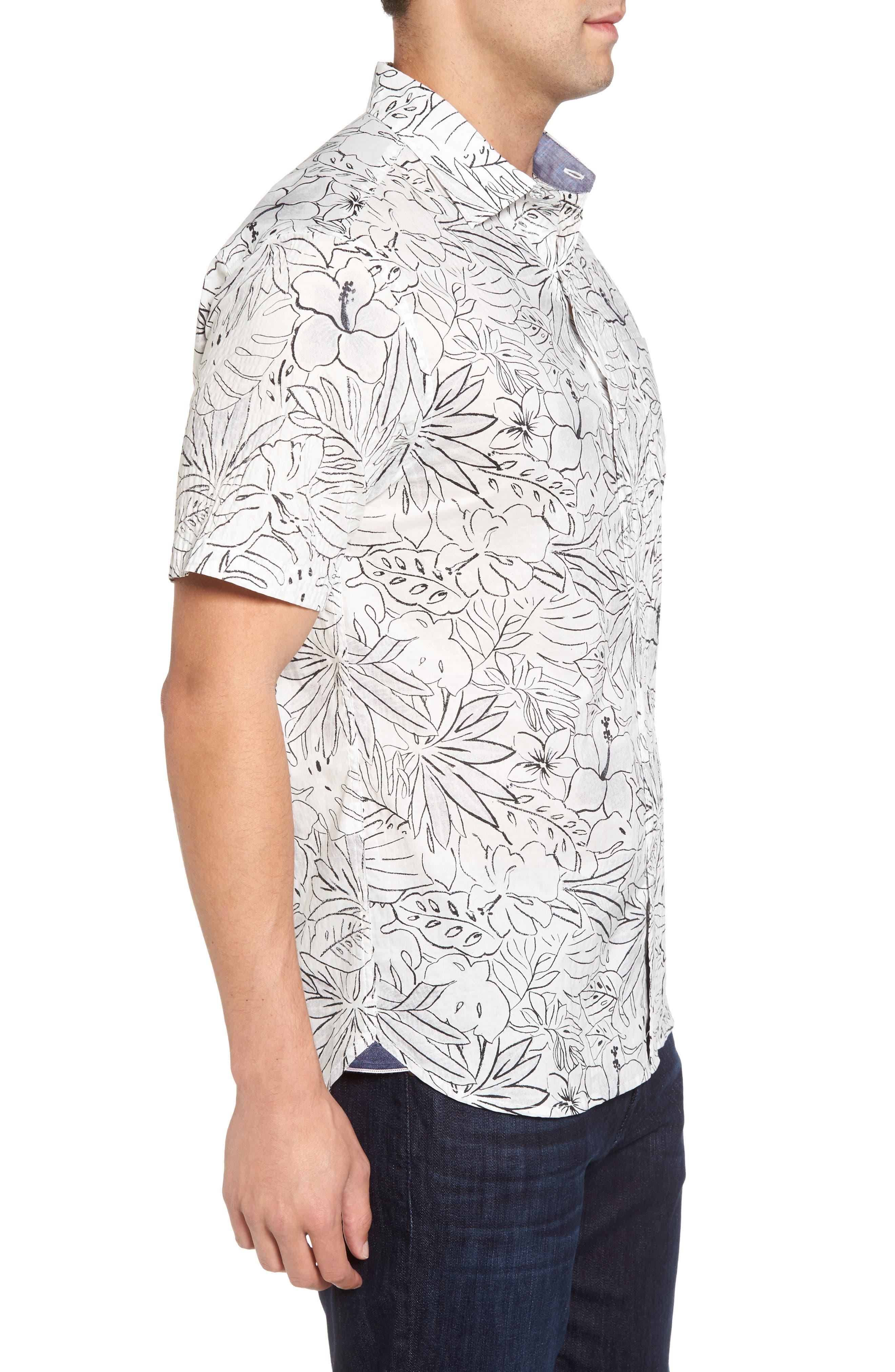 Alternate Image 3  - Tommy Bahama Sarasota Sketch Standard Fit Stretch Cotton Camp Shirt