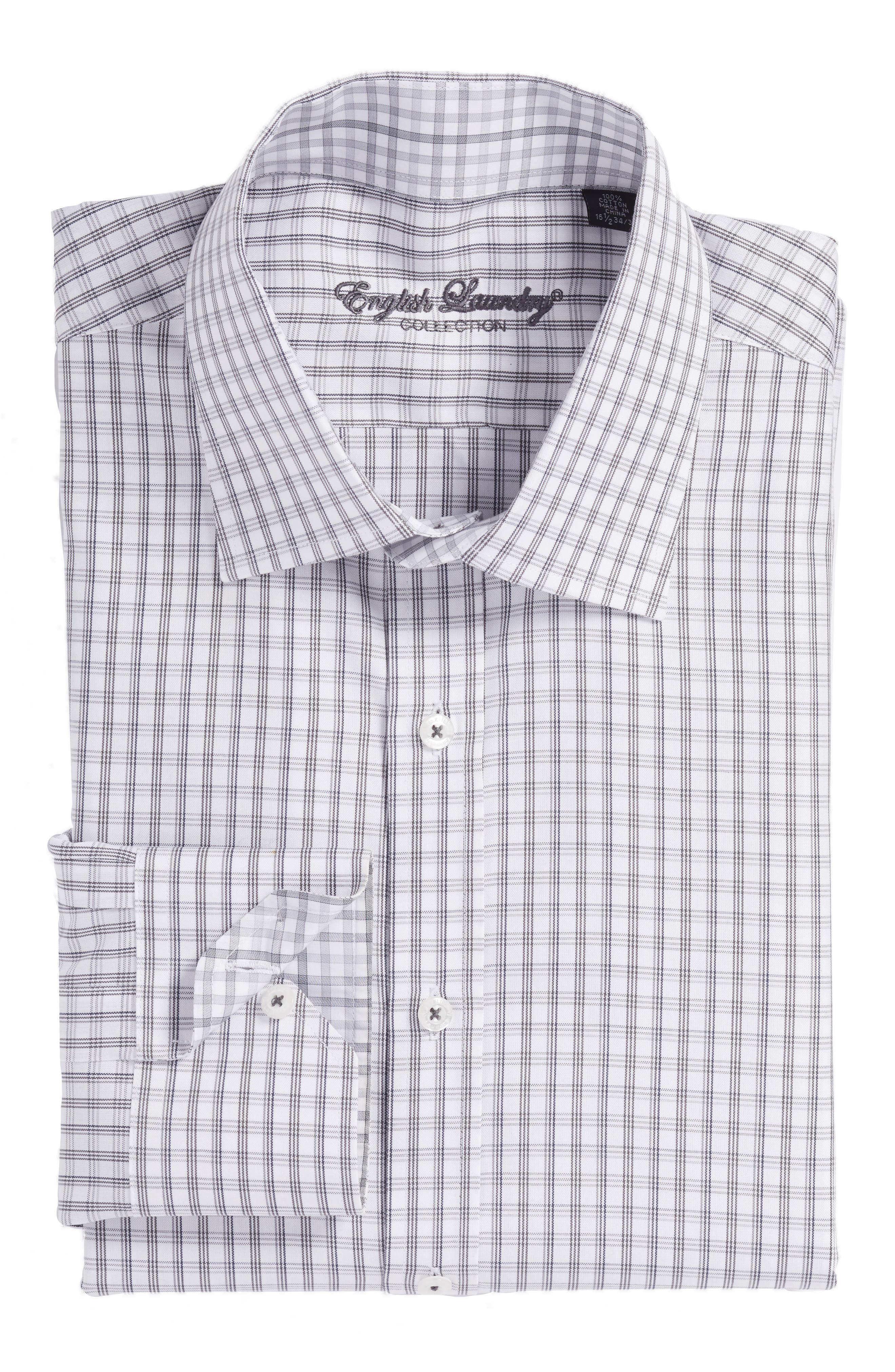 Main Image - English Laundry Trim Fit Plaid Dress Shirt