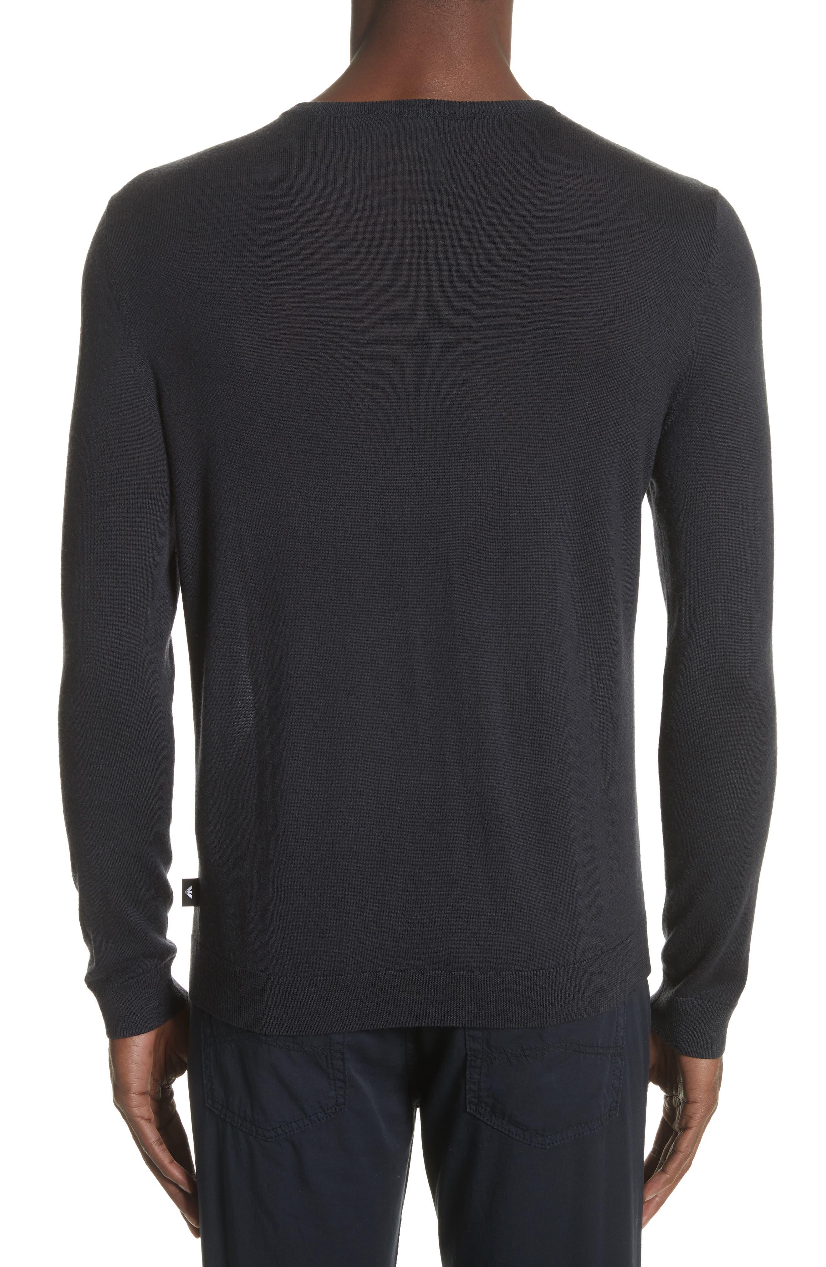 Crewneck Colorblock Slim Fit Sweater,                             Alternate thumbnail 2, color,                             Blue Multi