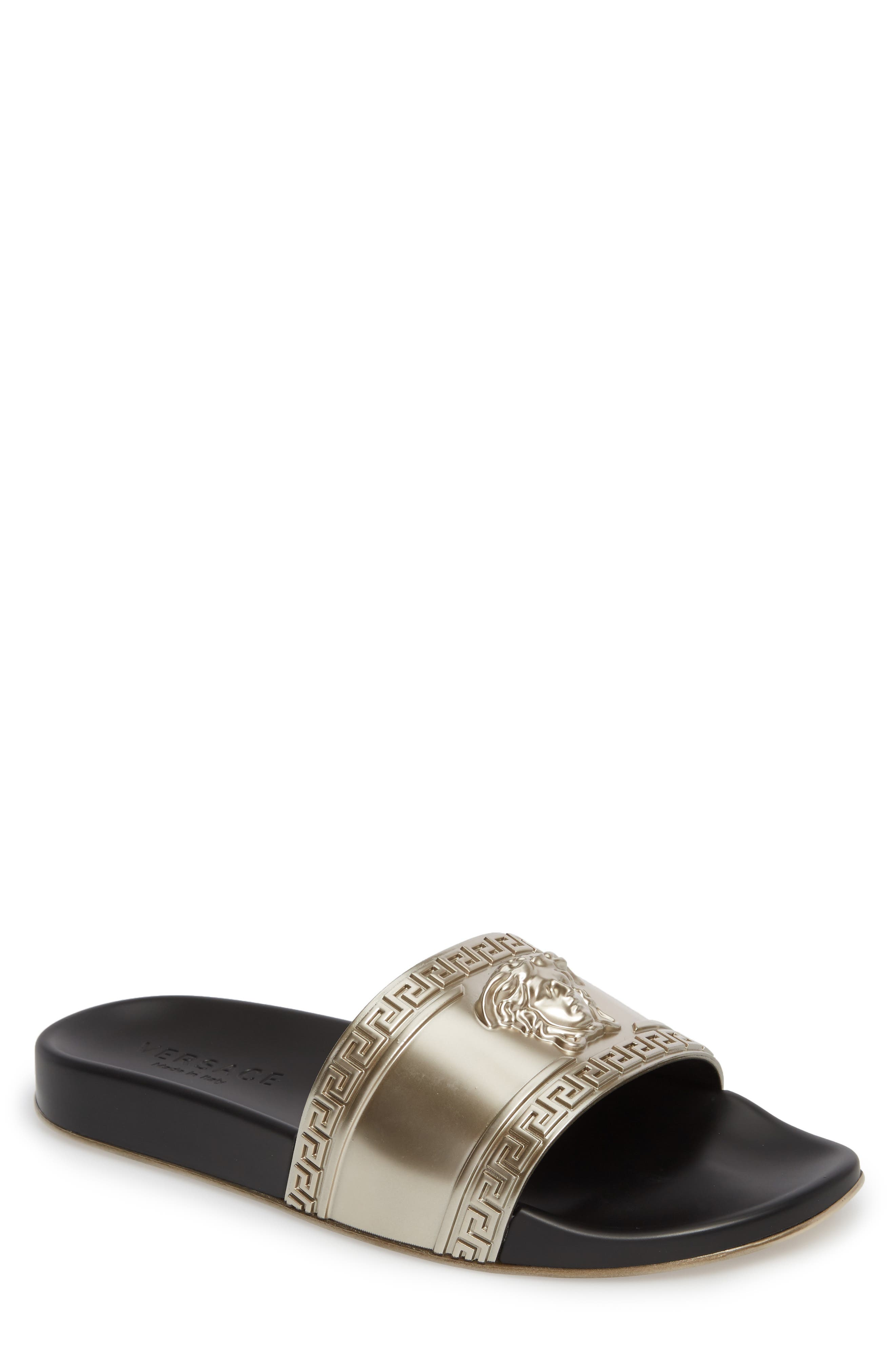 Alternate Image 1 Selected - Versace Palazzo Medusa Slide Sandal (Men)