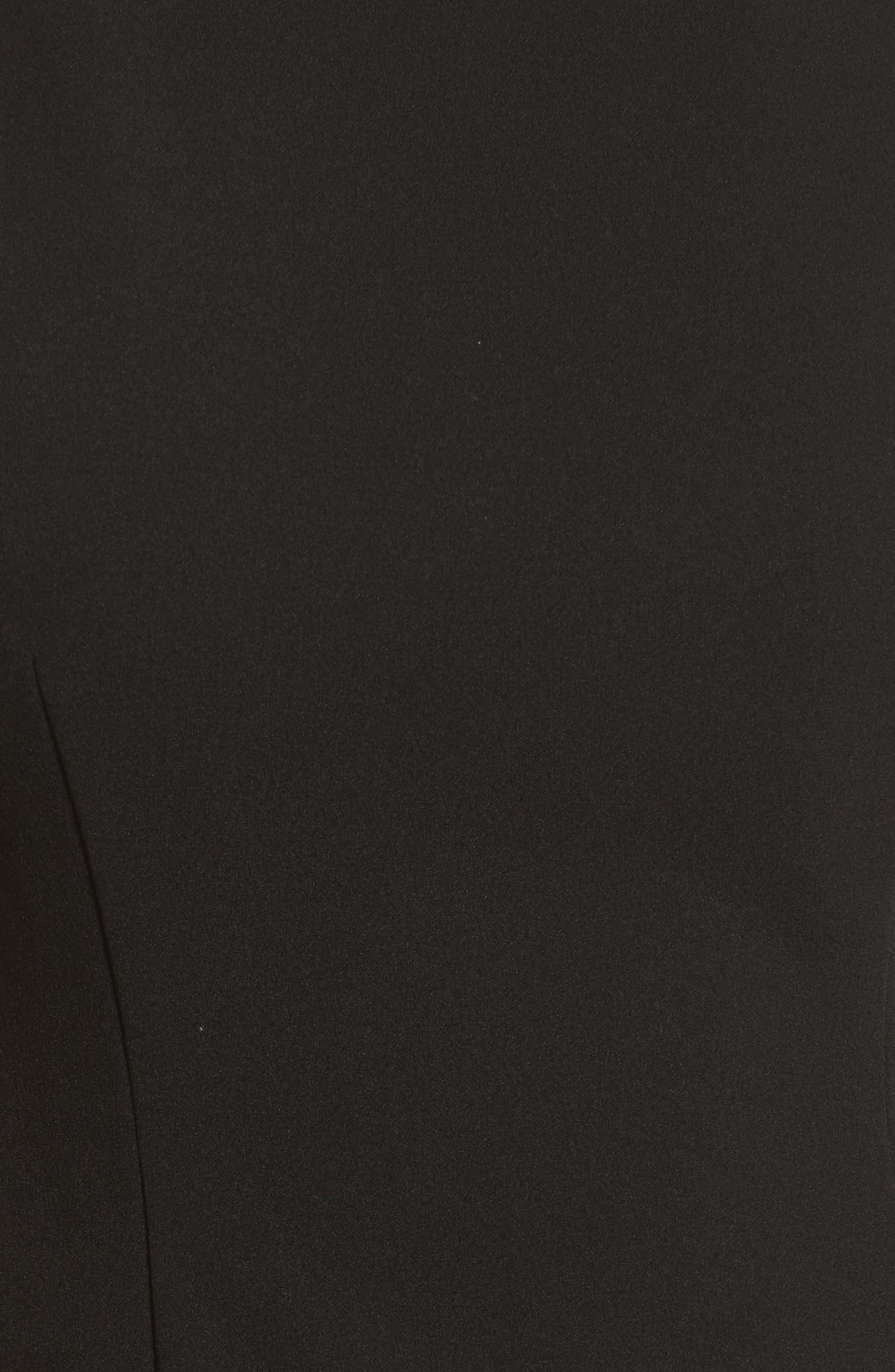 Bead Embellished Crepe Shift Dress,                             Alternate thumbnail 5, color,                             Black