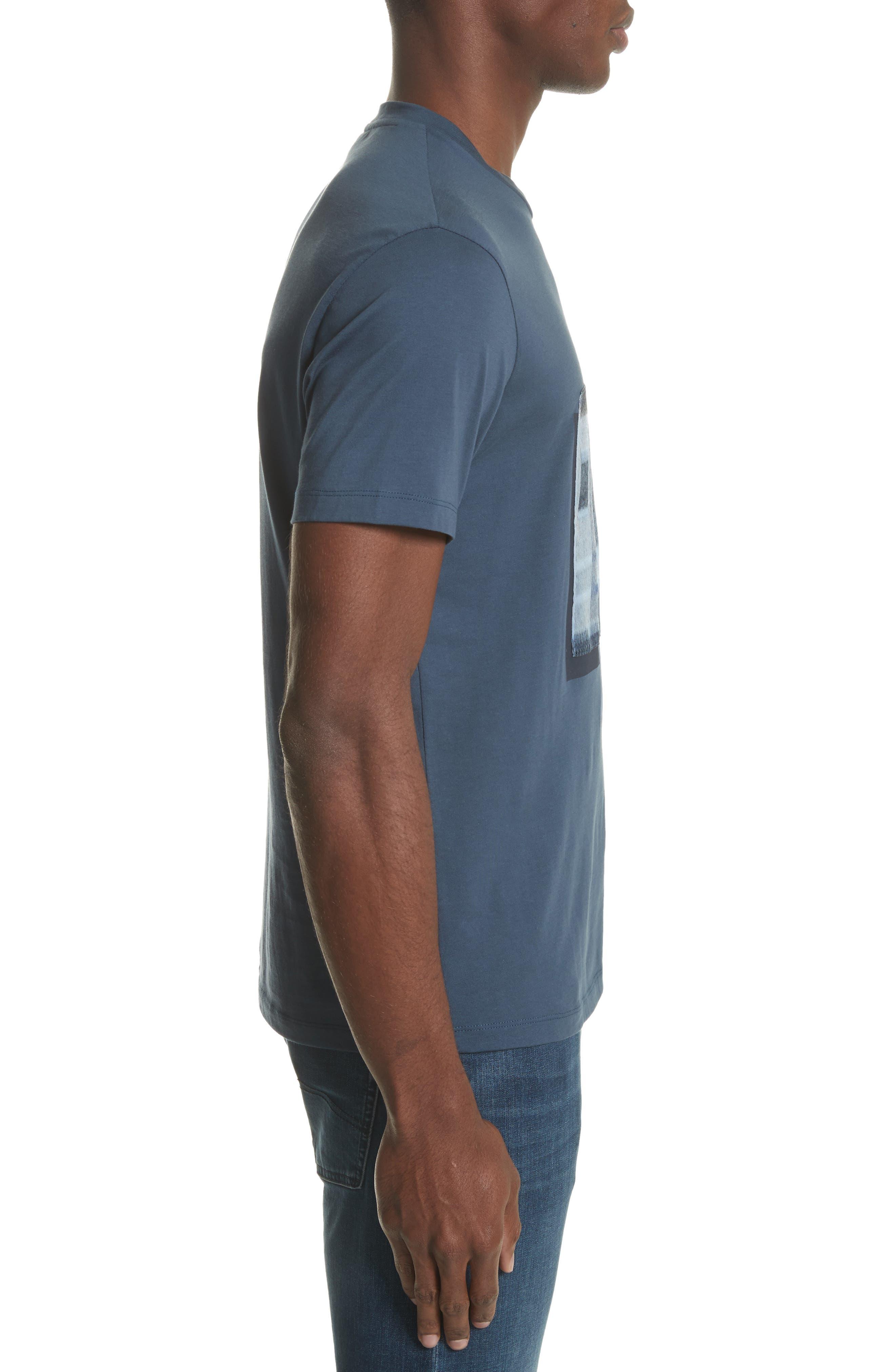 Colorblock Crewneck T-Shirt,                             Alternate thumbnail 3, color,                             Bluette