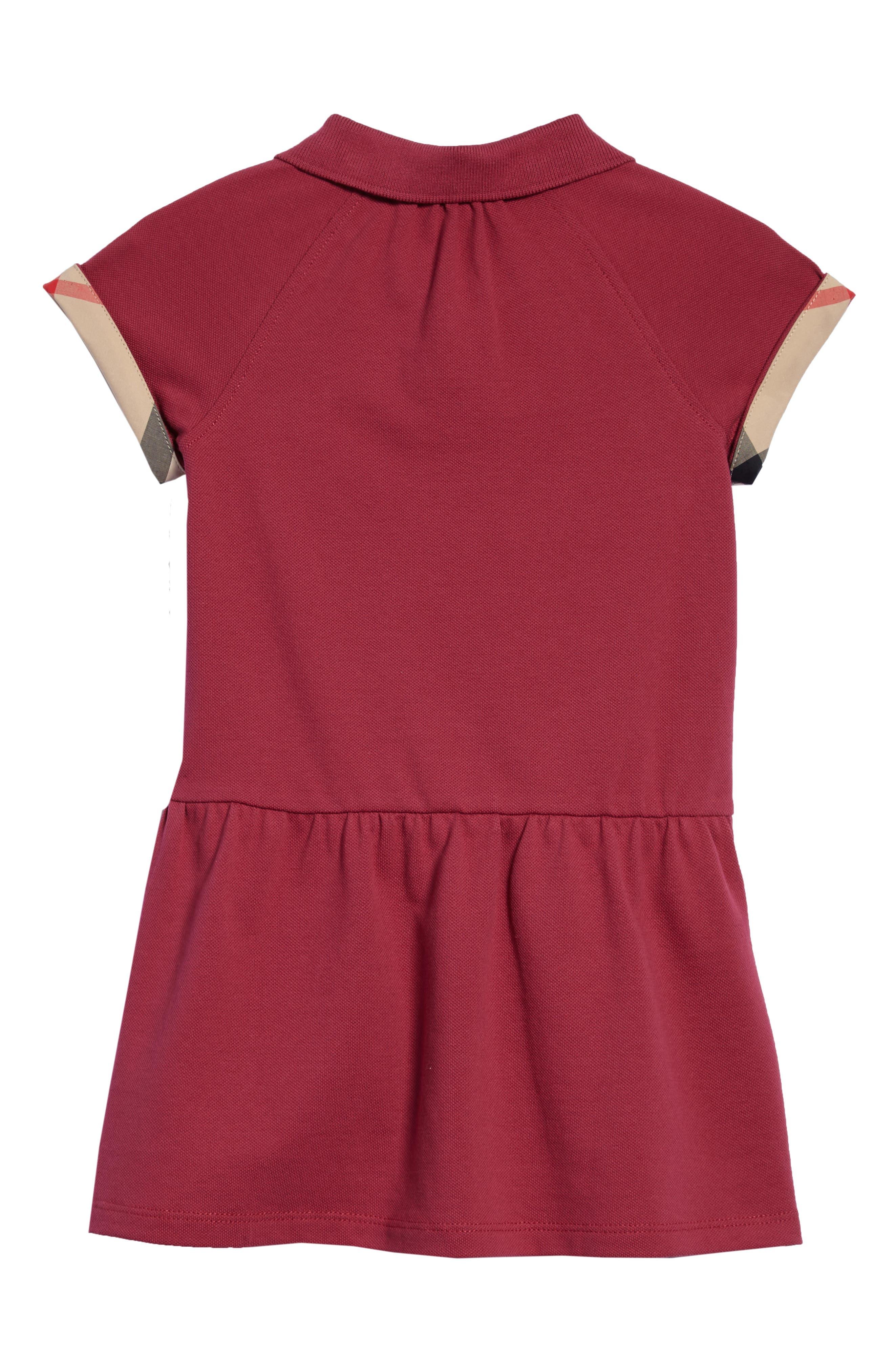 Mini Cali Polo Dress,                             Alternate thumbnail 2, color,                             Garnet Pink