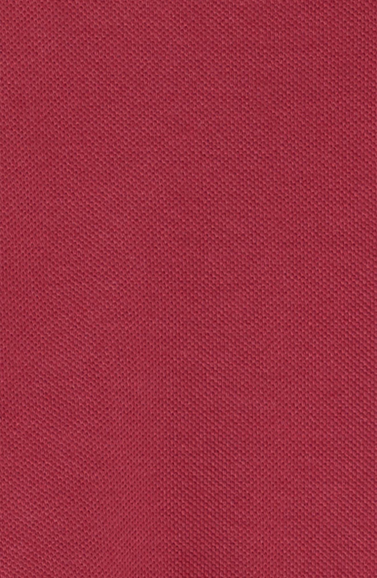 Mini Cali Polo Dress,                             Alternate thumbnail 3, color,                             Garnet Pink