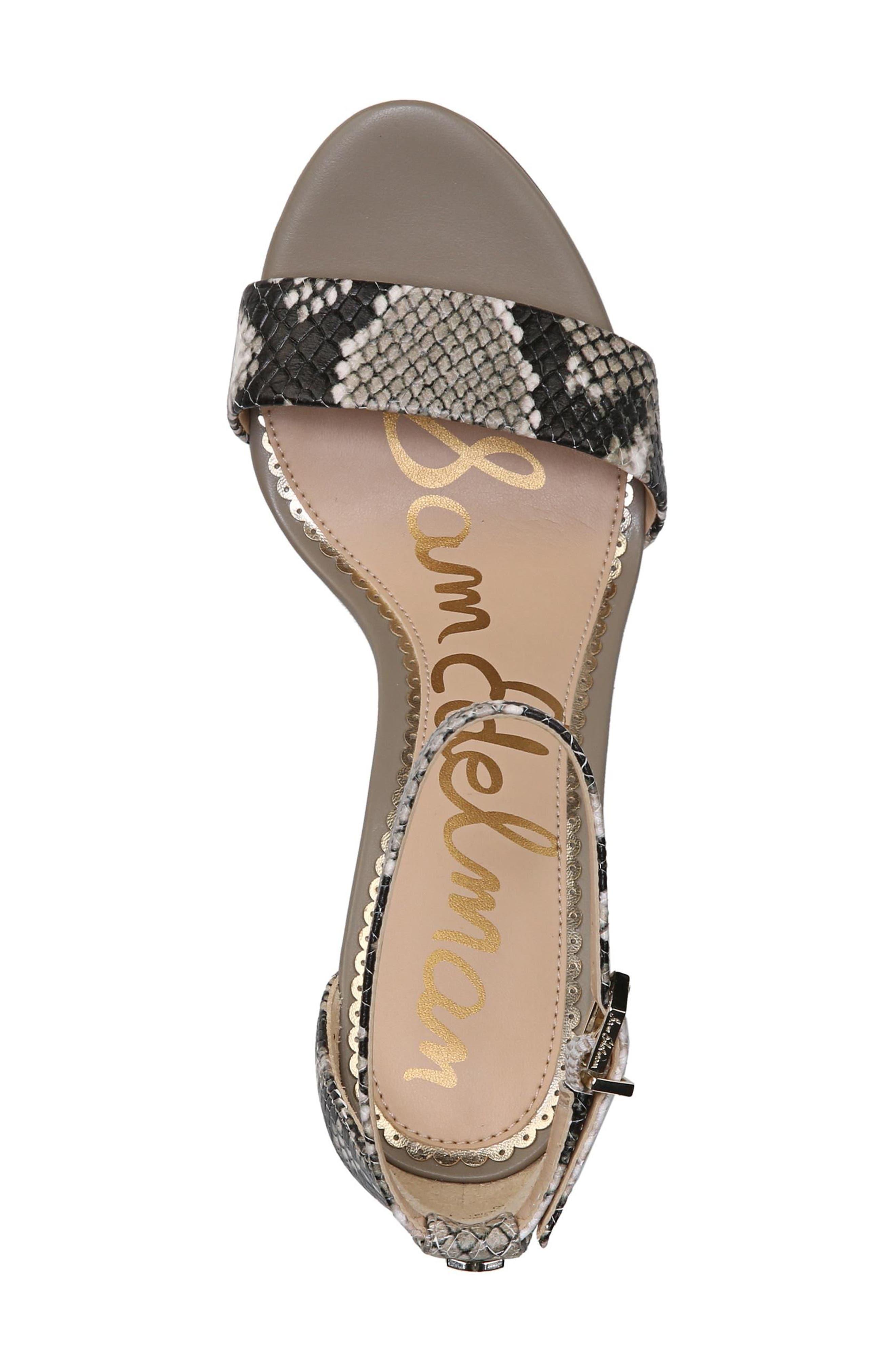 Yaro Ankle Strap Sandal,                             Alternate thumbnail 6, color,                             Natural Snake Print Leather