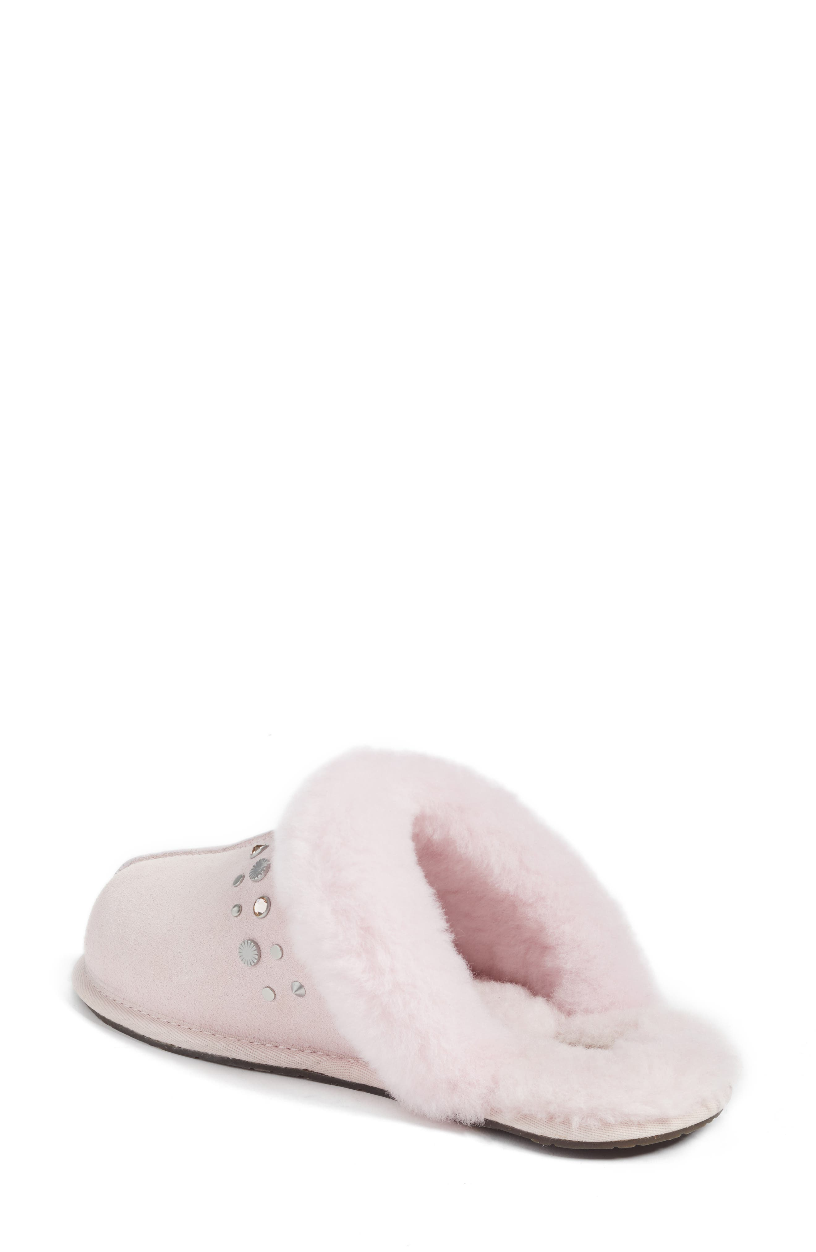 Scuffette II Studded Slipper,                             Alternate thumbnail 3, color,                             Seashell Pink