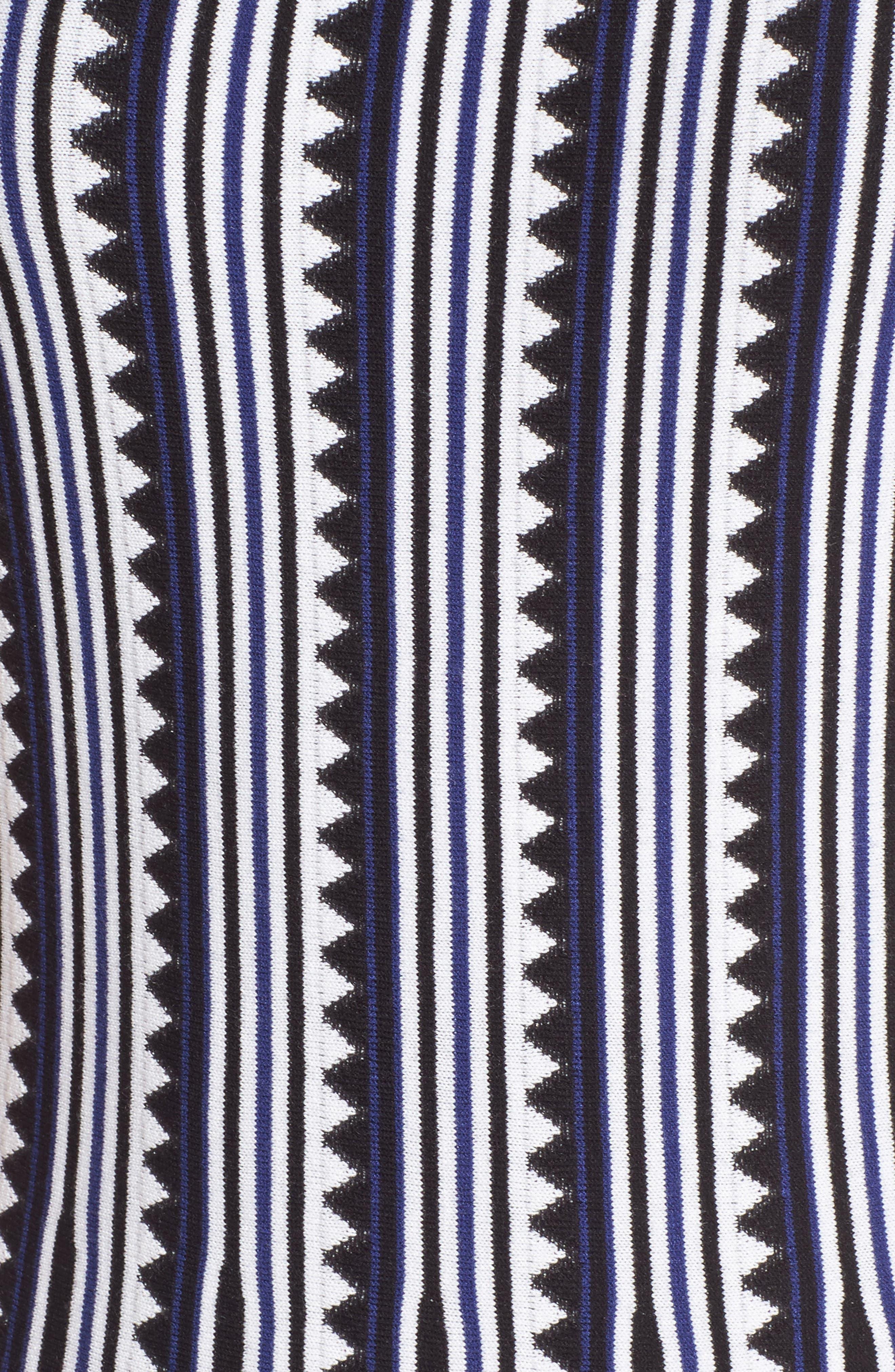 Triangle Knit Twirl Dress,                             Alternate thumbnail 5, color,                             Blue Multi