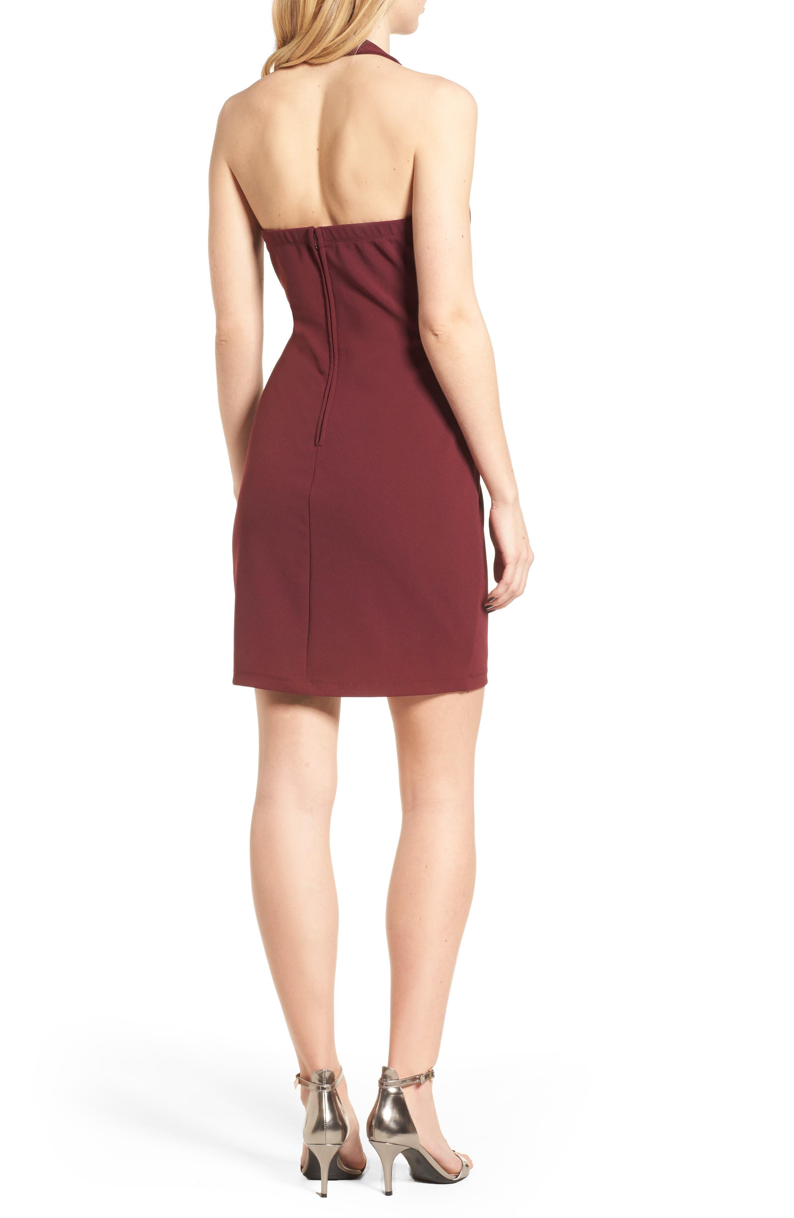 Alternate Image 2  - Speechless Embellished Halter Body-Con Dress