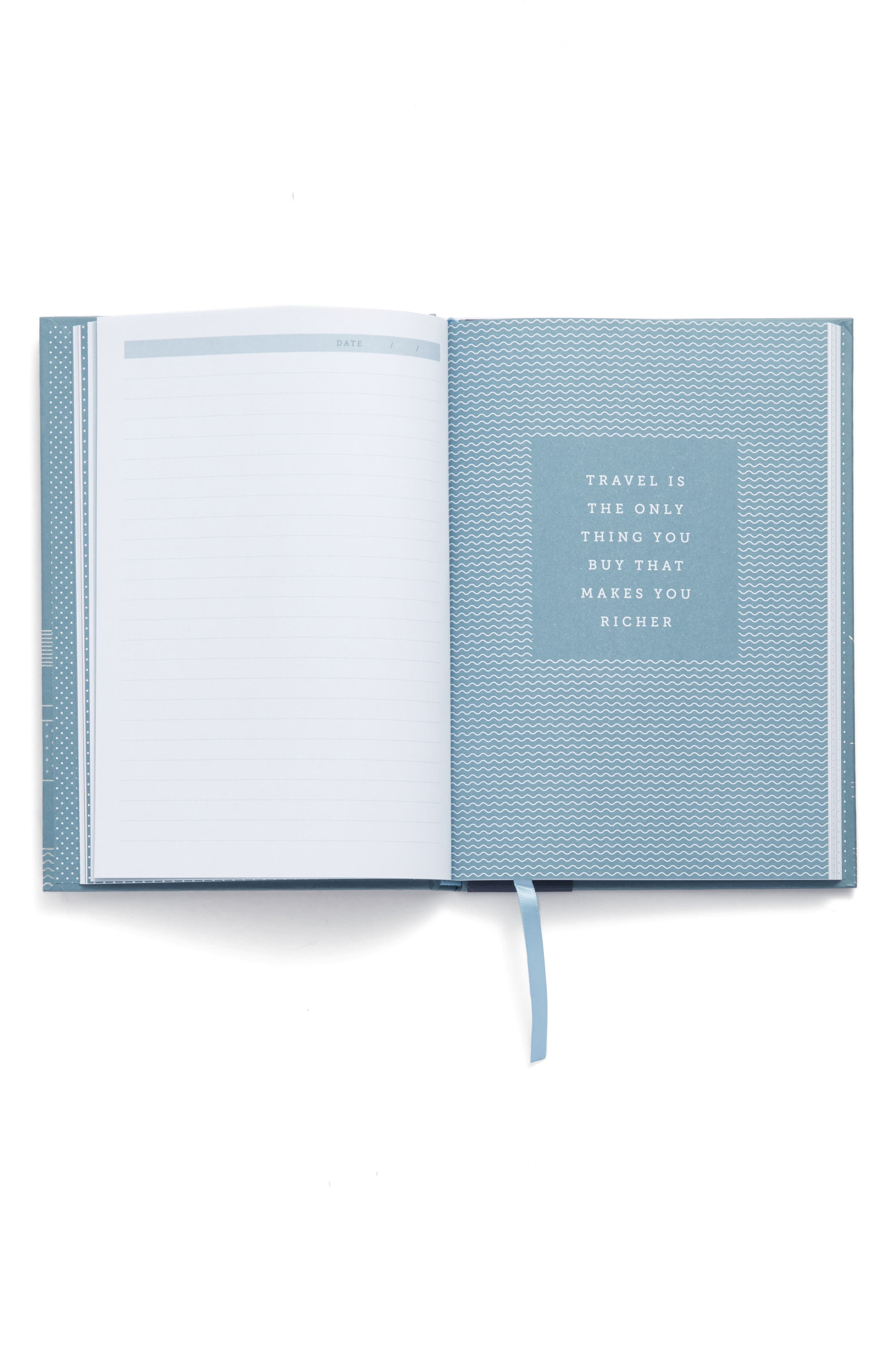 Hardcover Travel Journal,                             Alternate thumbnail 2, color,                             Blue