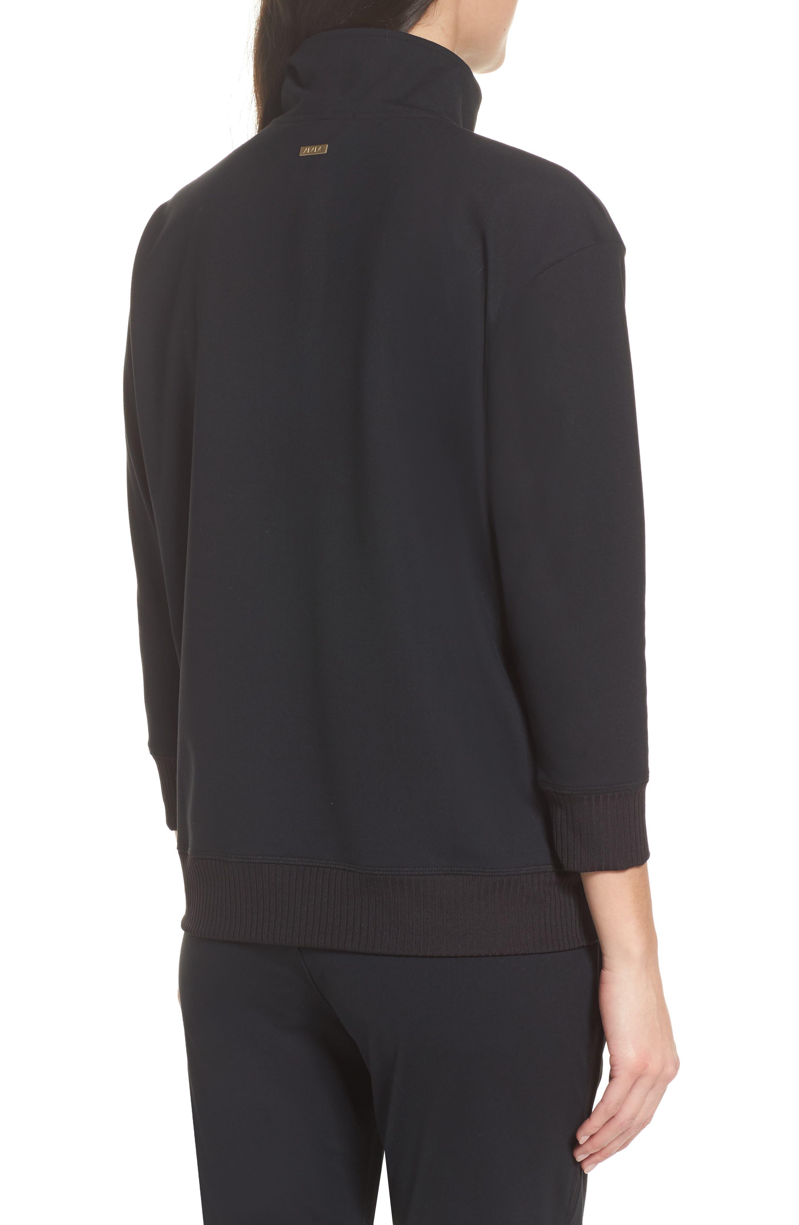 Cato Quarter Zip Pullover,                             Alternate thumbnail 2, color,                             Black