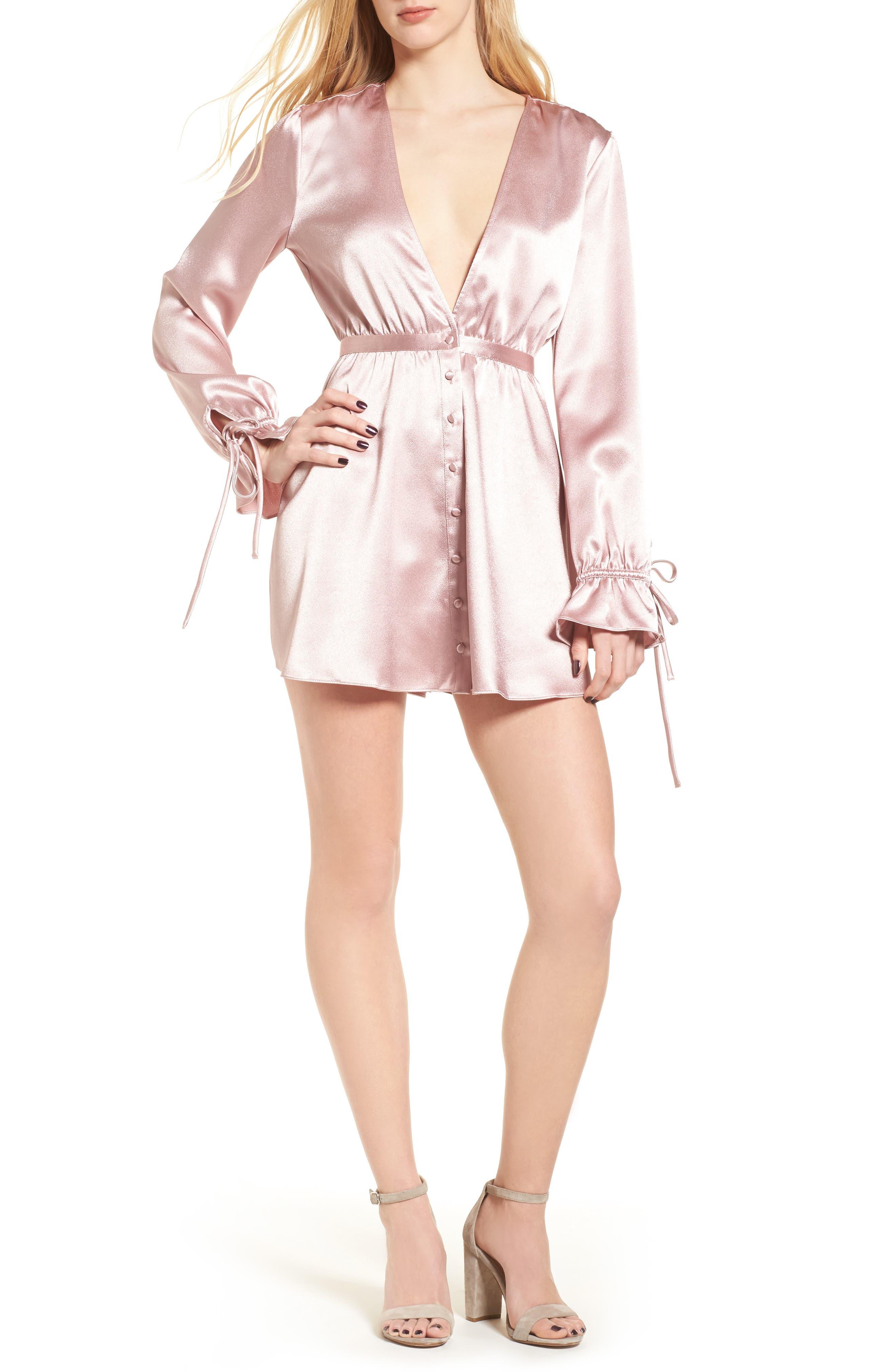 Lane Minidress,                         Main,                         color, Dusty Rose