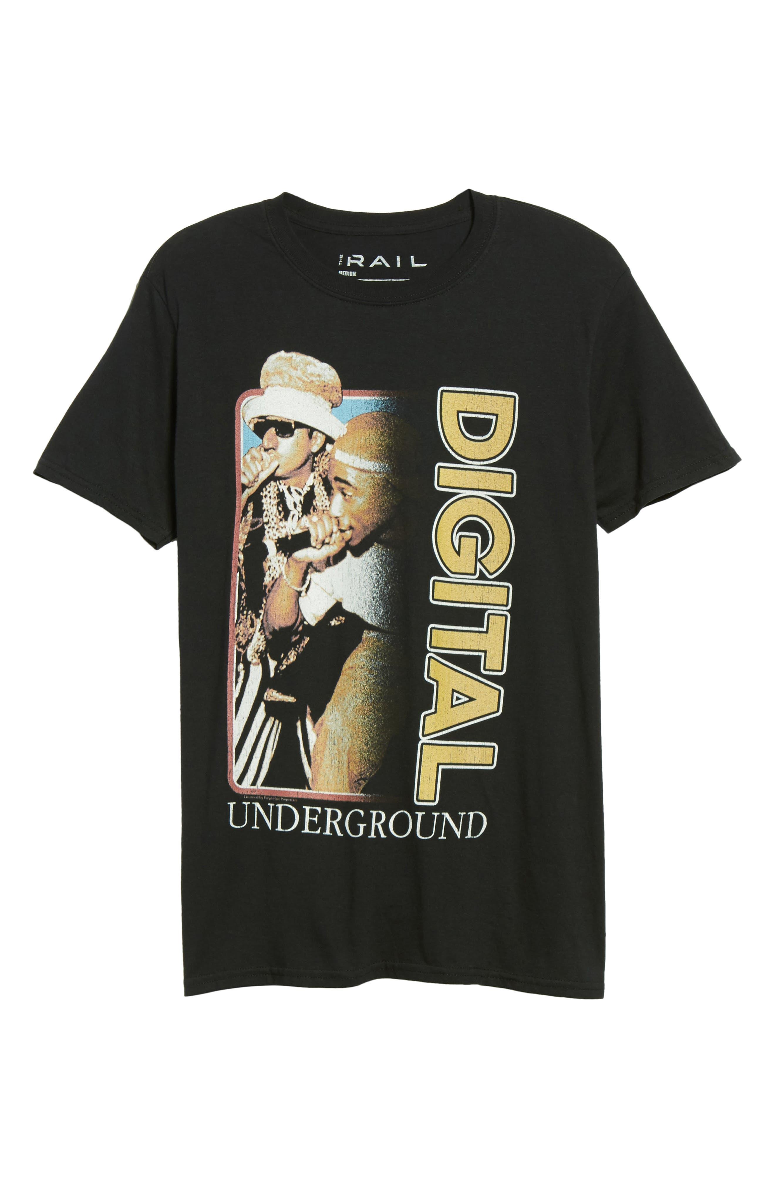 Digital Underground T-Shirt,                             Alternate thumbnail 6, color,                             Black Digital Underground