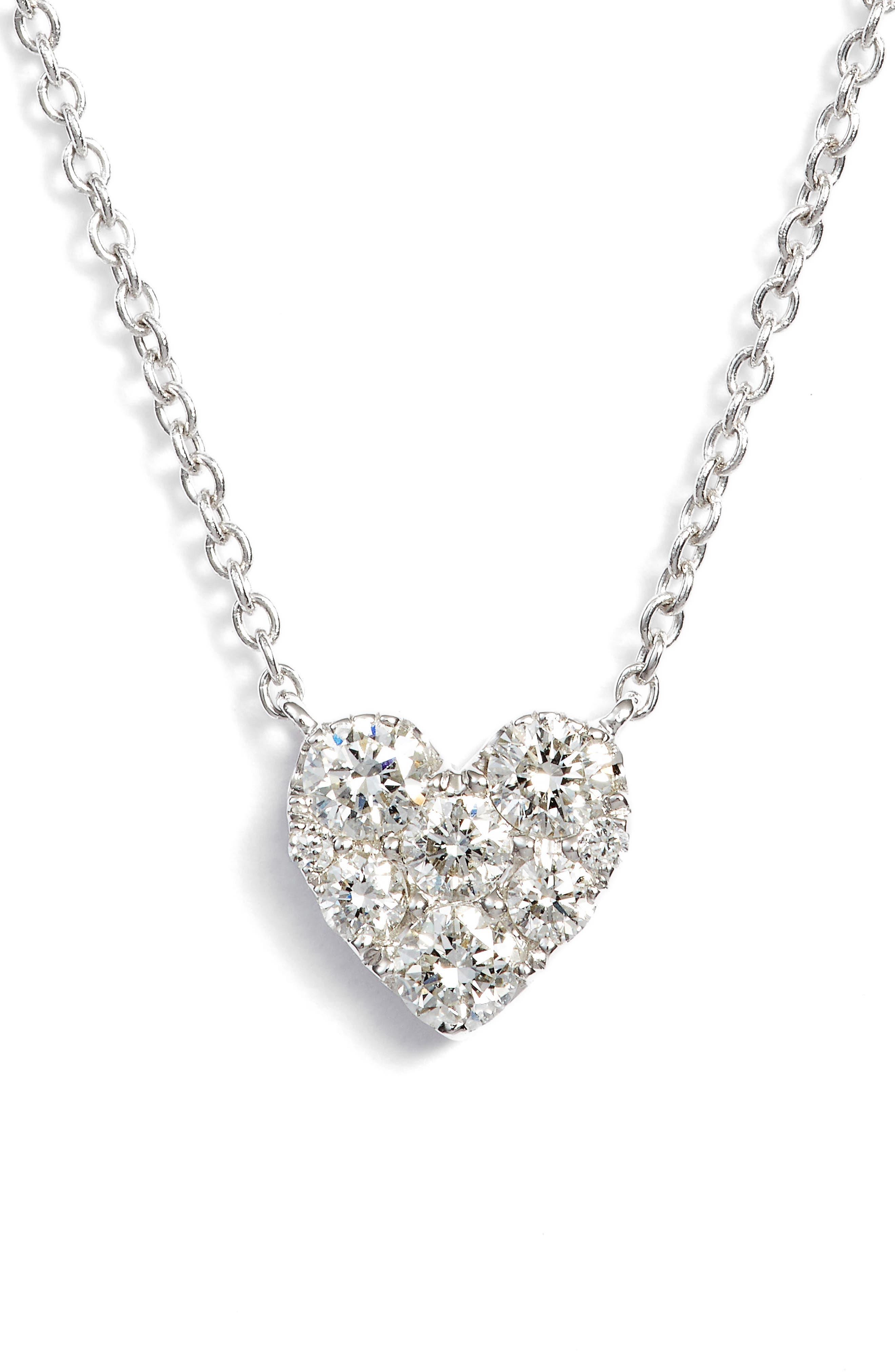 Bony Levy Heart Diamond Pendant Necklace (Nordstrom Exclusive)