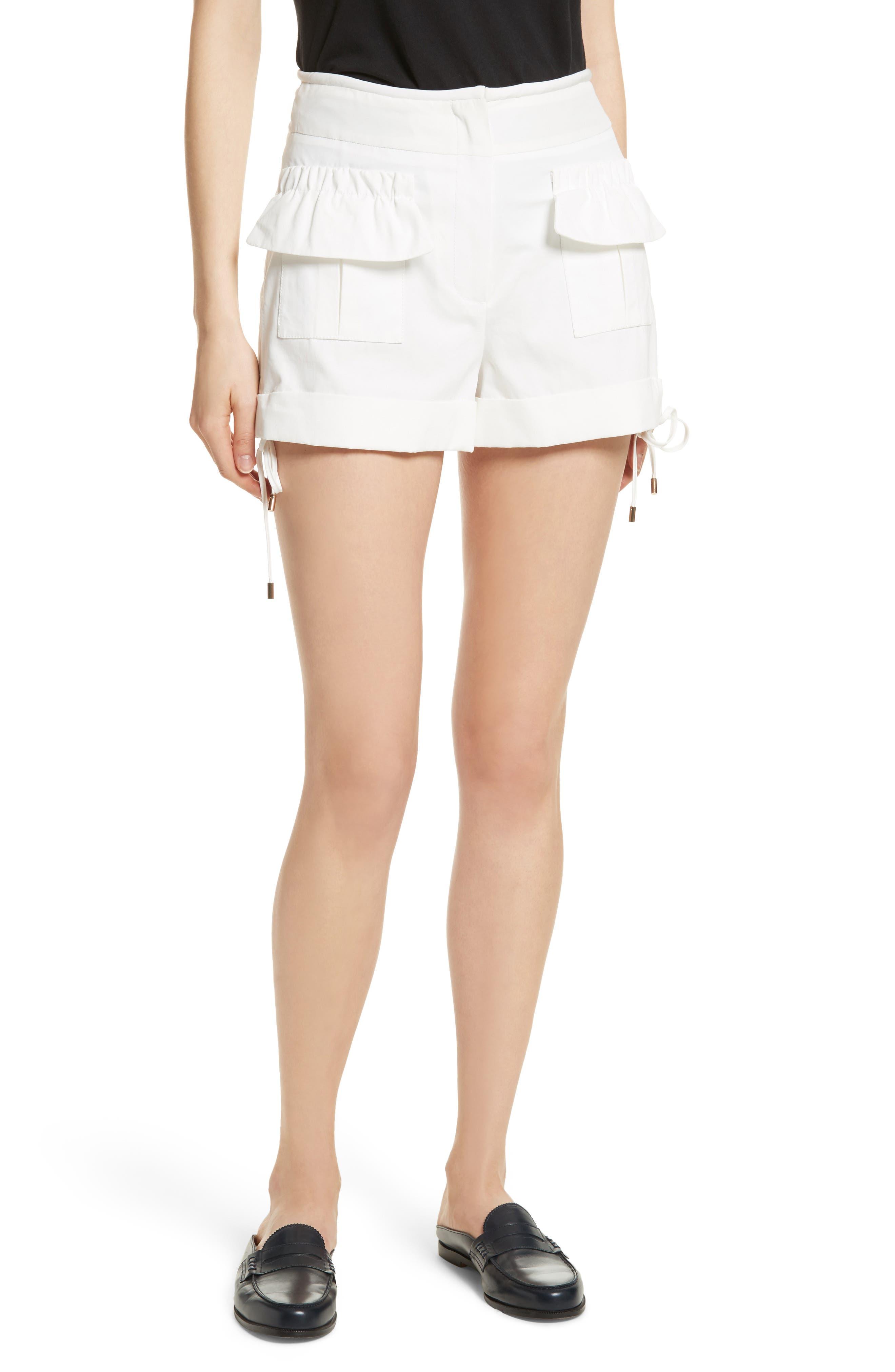 High Waist Shorts,                         Main,                         color, Blanc Antique