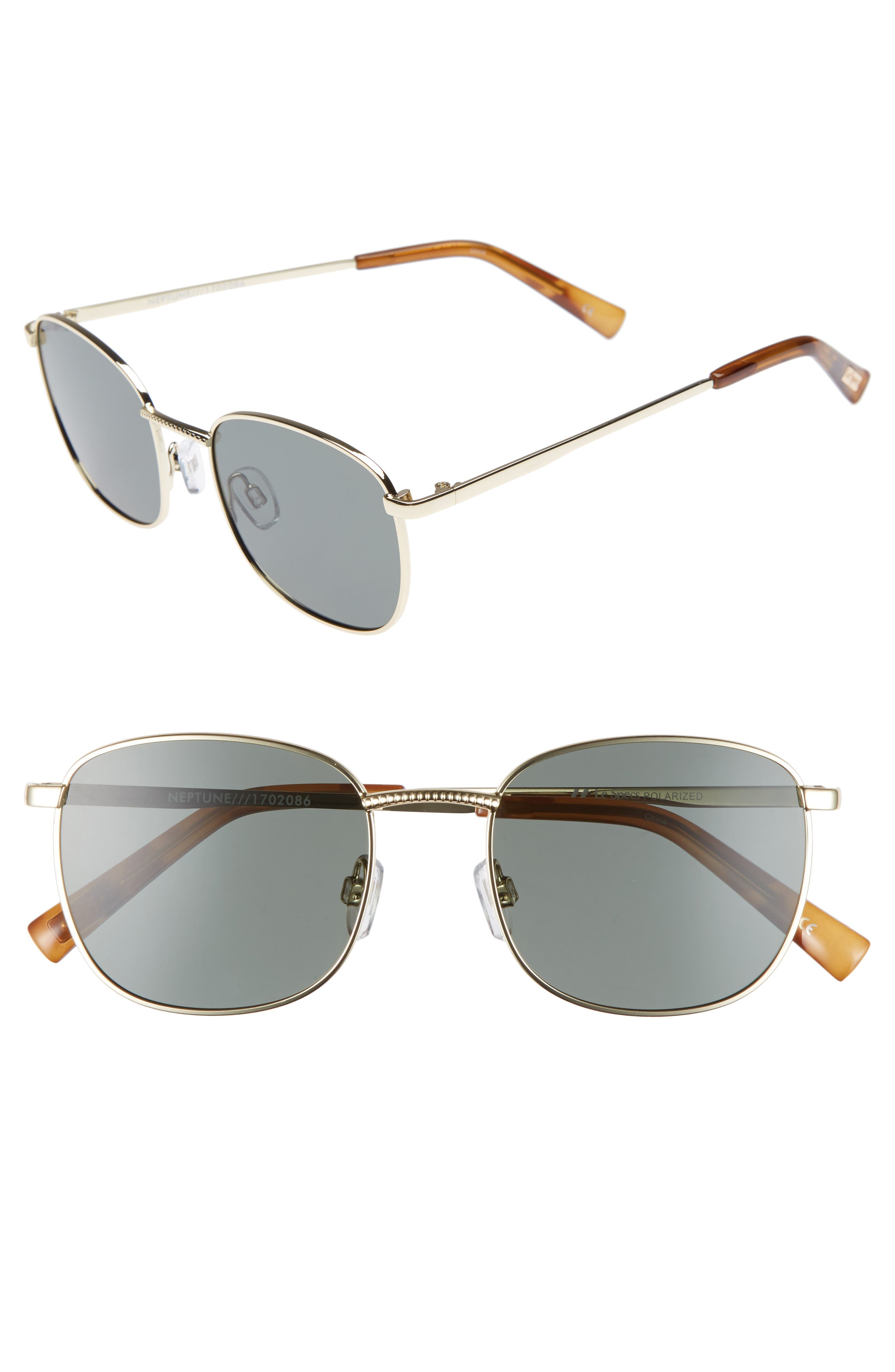 Neptune 49mm Sunglasses,                             Main thumbnail 1, color,                             Bright Gold