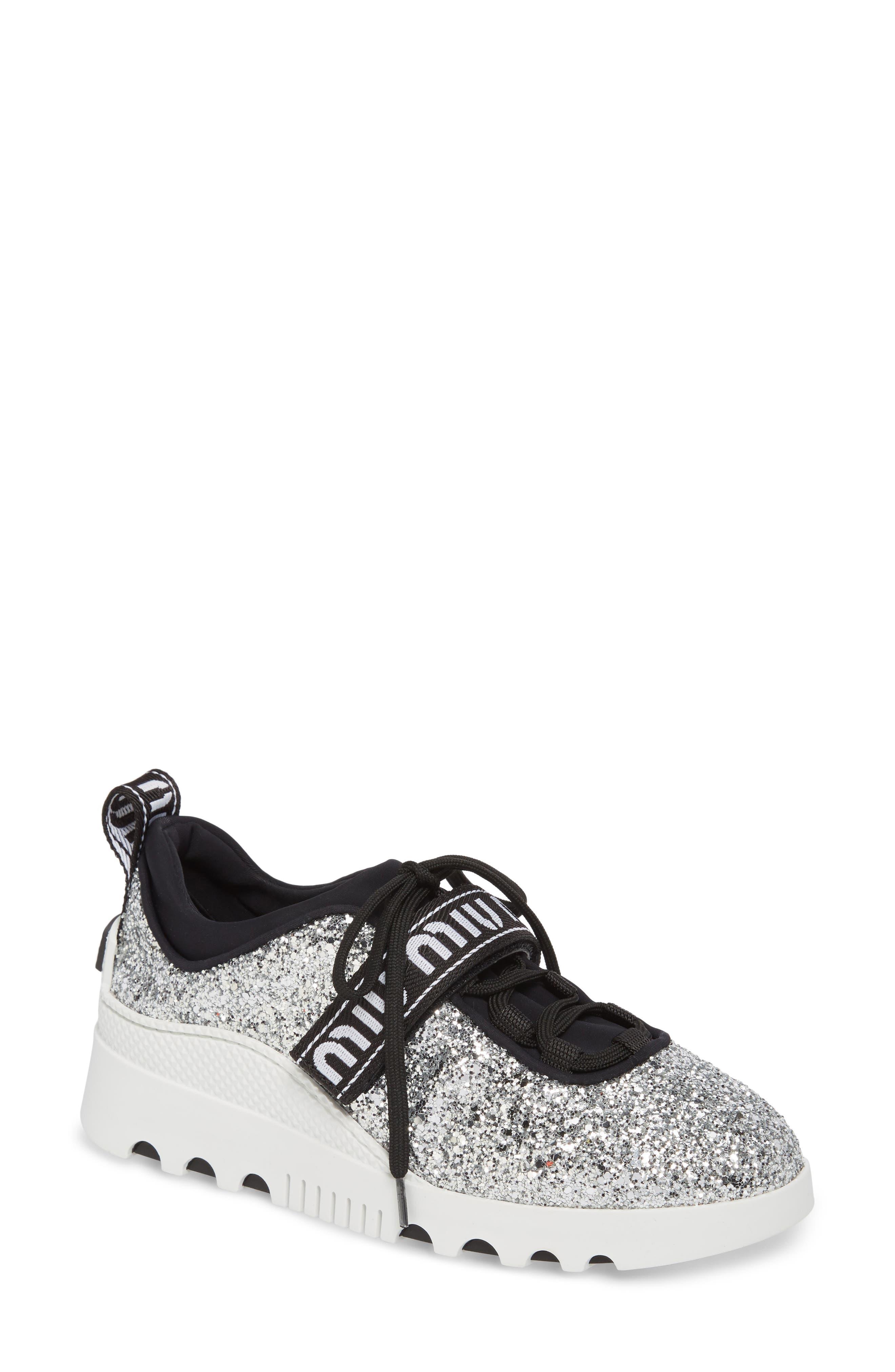 Miu Miu Glitter Sneakers n5VZXy