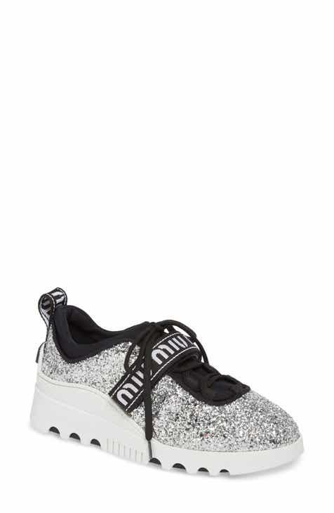Miu Miu Logo Strap Platform Sneaker (Women) 0877ad821ff5